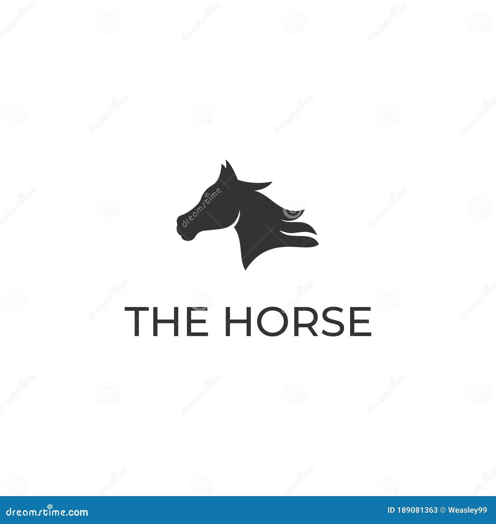 Simple Horse Head Logo Design Stock Vector Illustration Of Horse Horseback 189081363