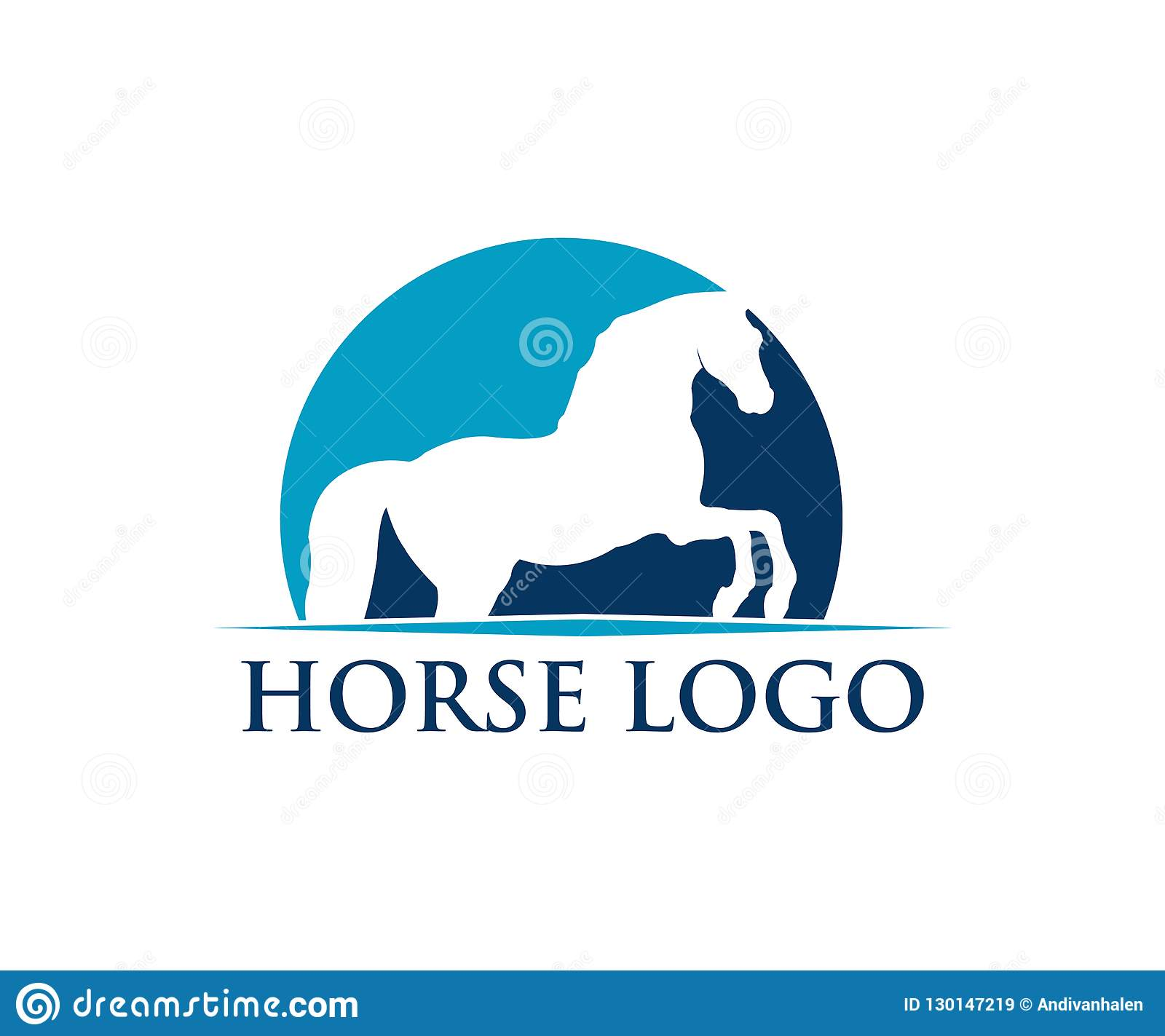 Simple Horse Sport Vector Logo Design Inspiration Stock Illustration Illustration Of Decoration Resort 130147219