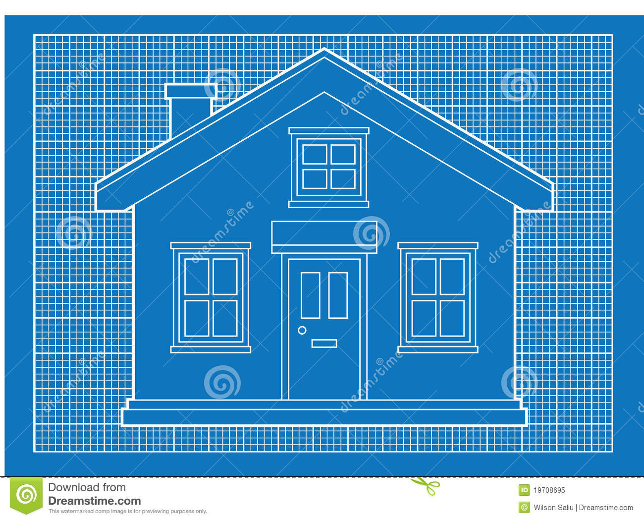 Simple House Blueprints Royalty Free Stock Photo Image