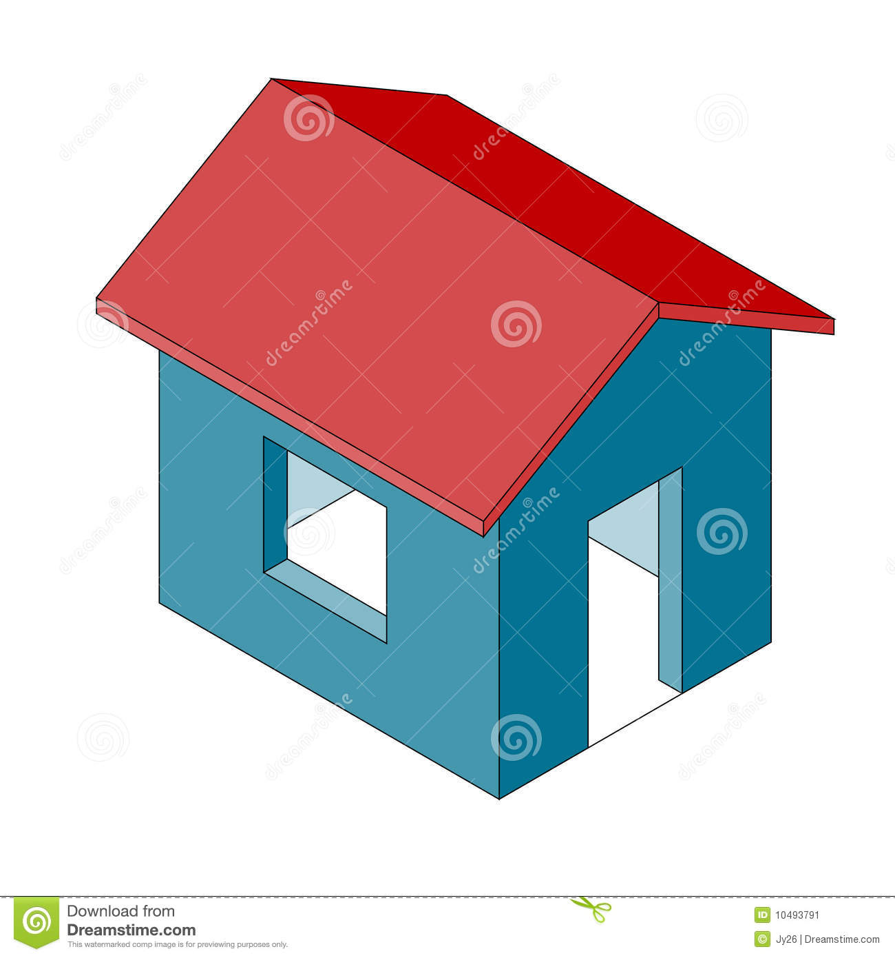 Simple House Illustration (vector) Stock Image - Image ...