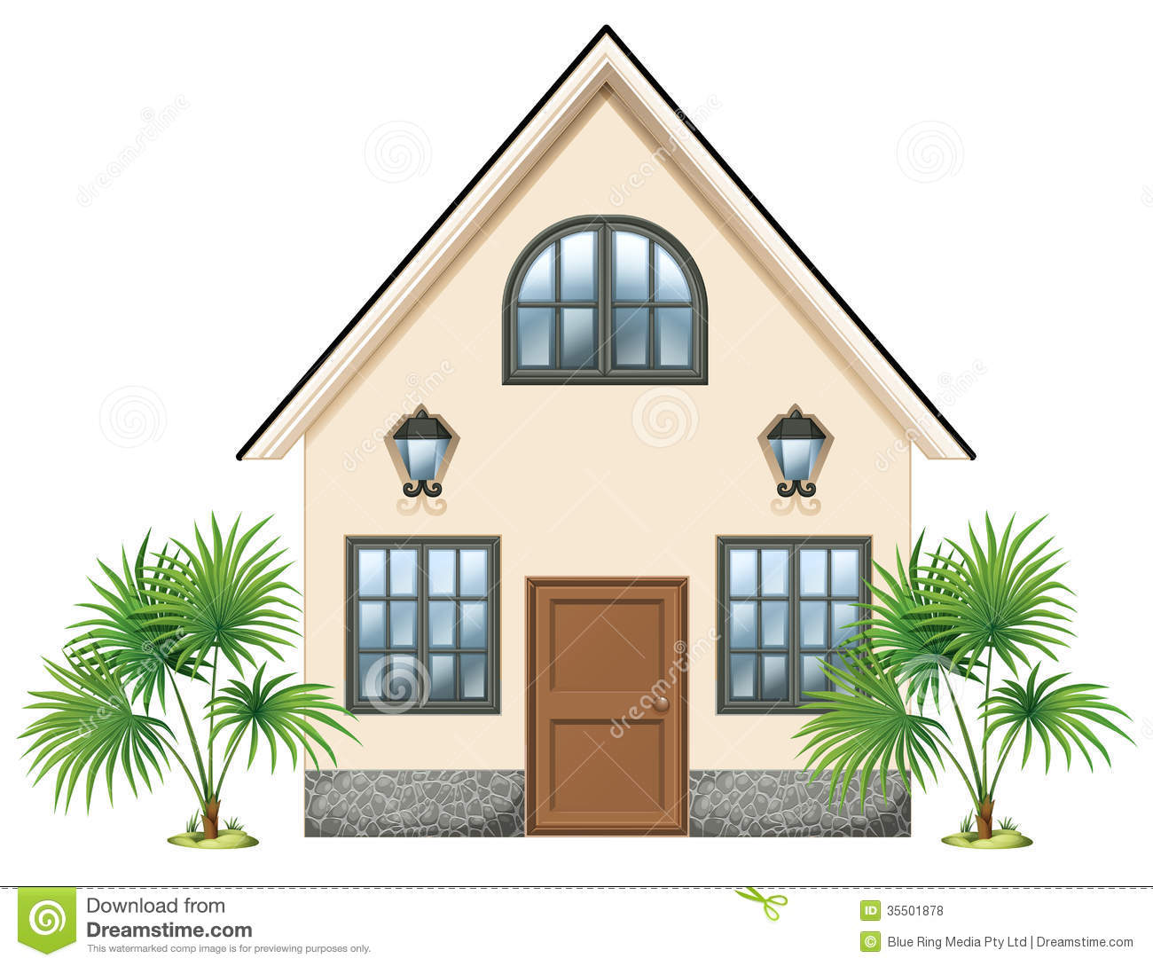 A simple house stock vector illustration of plan image for Picture of simple house