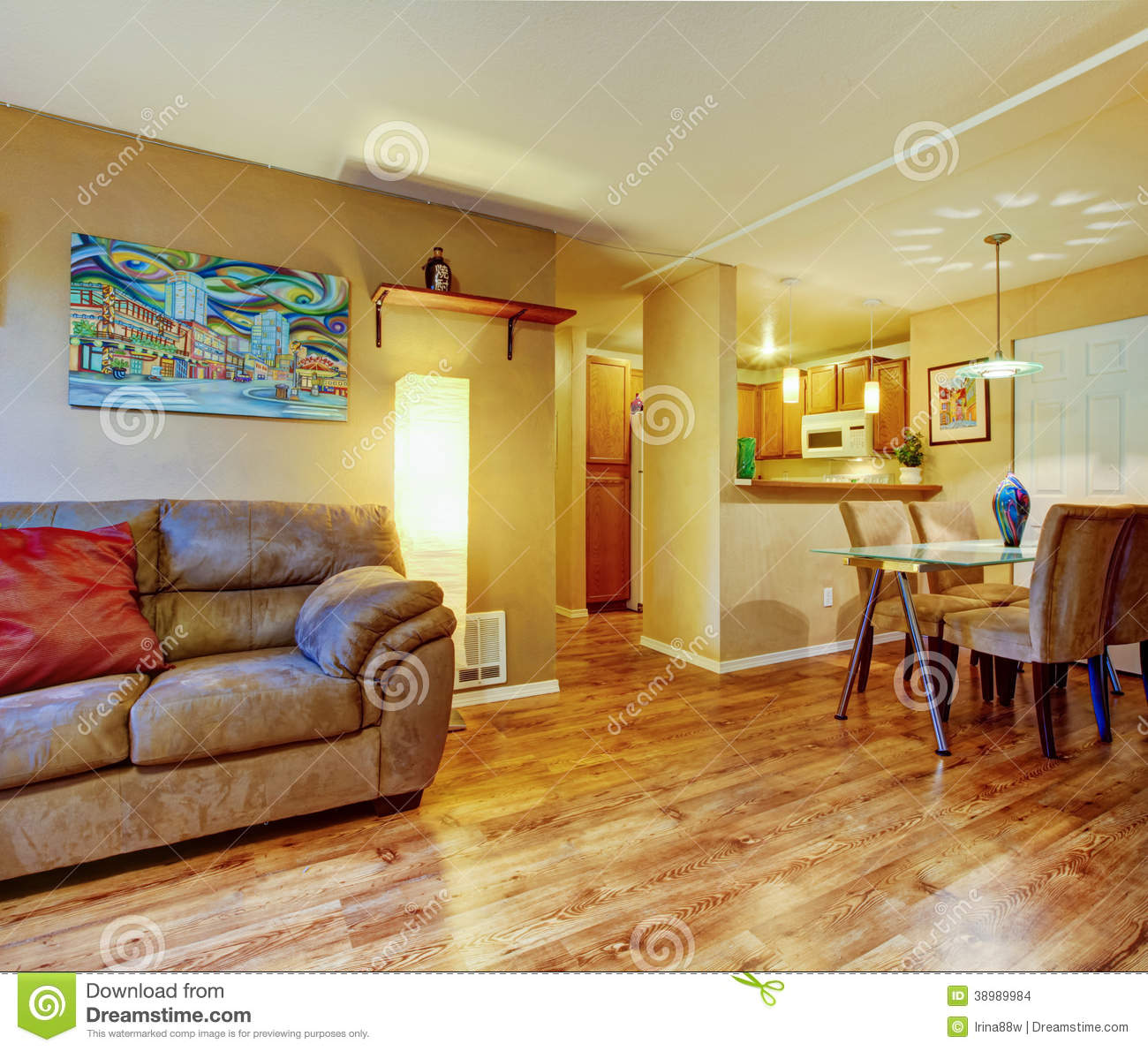 Simple house interior stock photo image 38989984 - Simple house interior living room ...