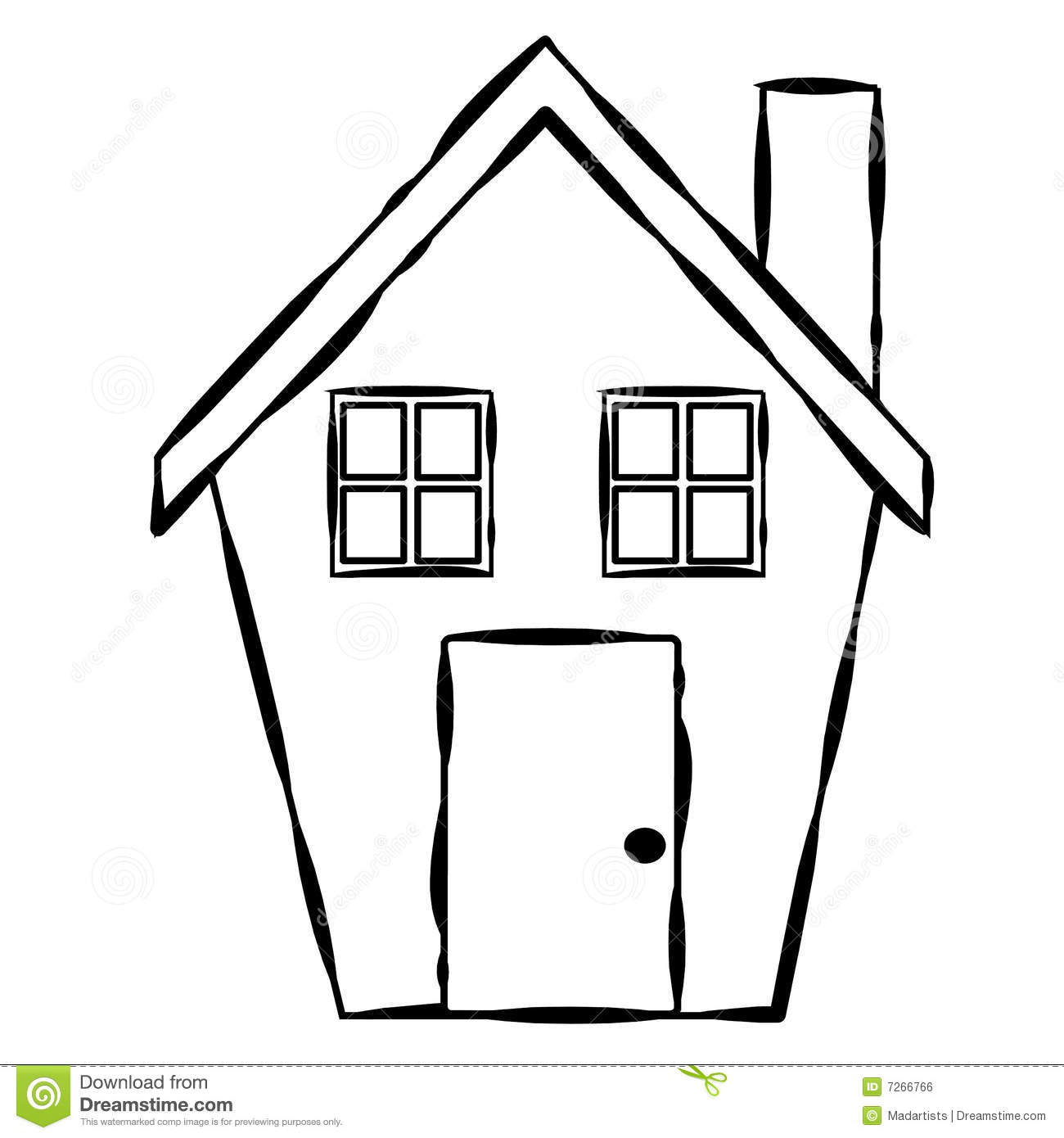 Line Art Of House : Simple house line art stock illustration of