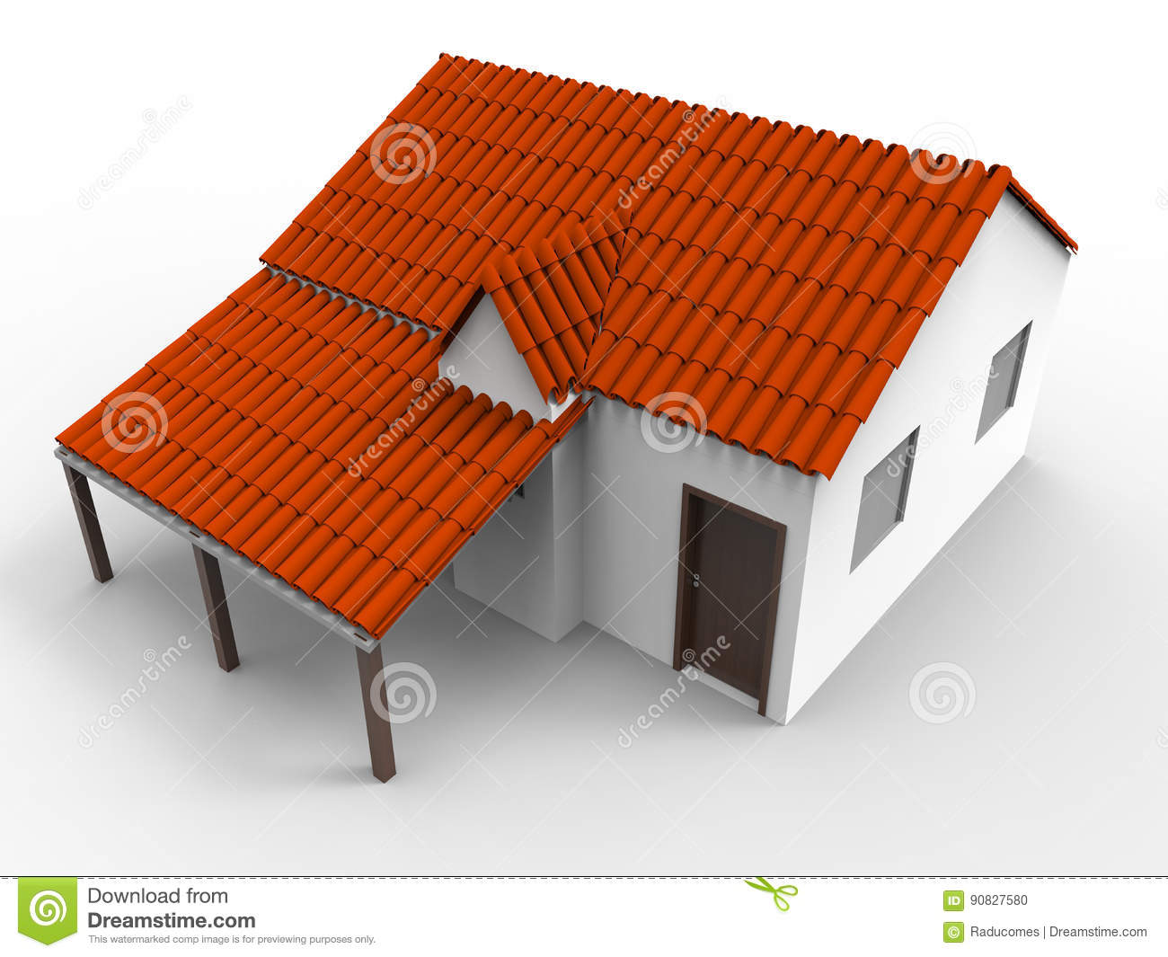Simple House Model Stock Illustration Illustration Of