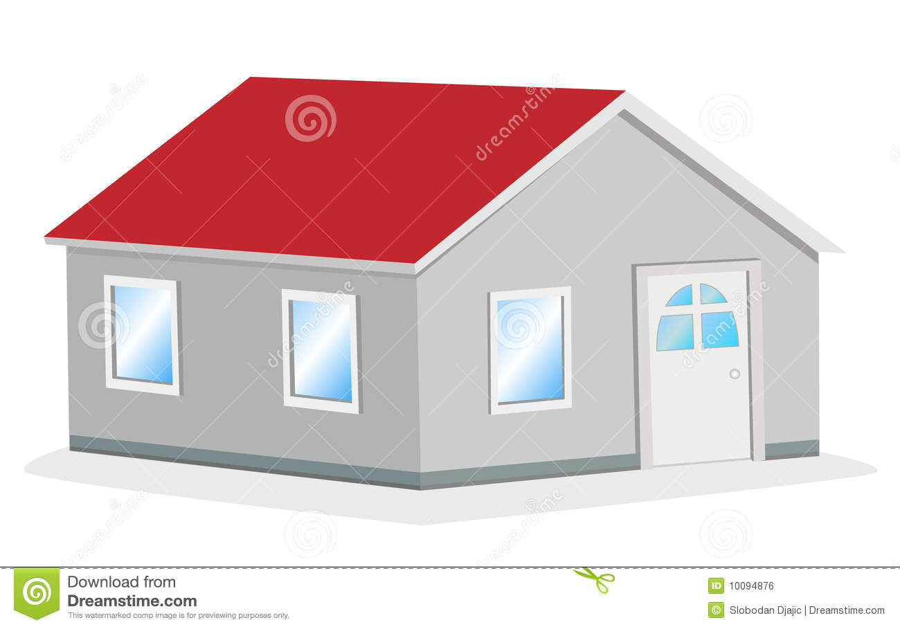 Simple house vector illustration royalty free stock image image 10094876 - Images simple home ...