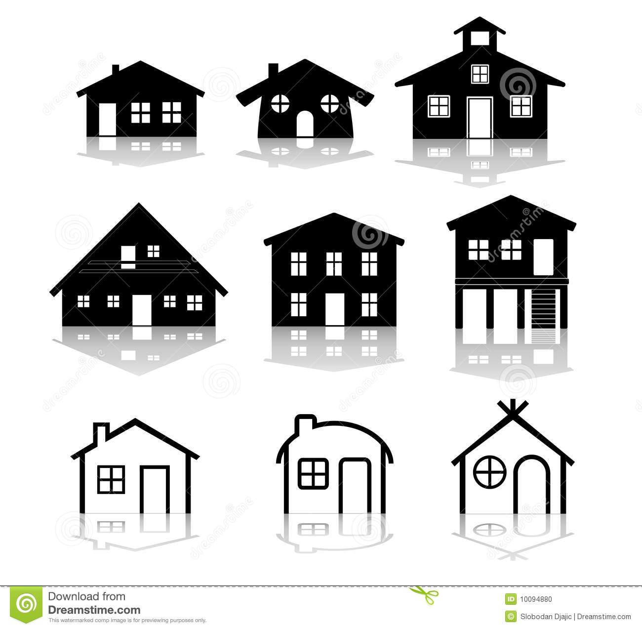 Simple House Vector Illustrations Stock Photo - Image ...