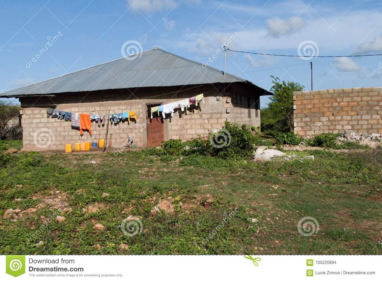 Simple House In A Village In Zanzibar Stock Photo Image Of Nungwi