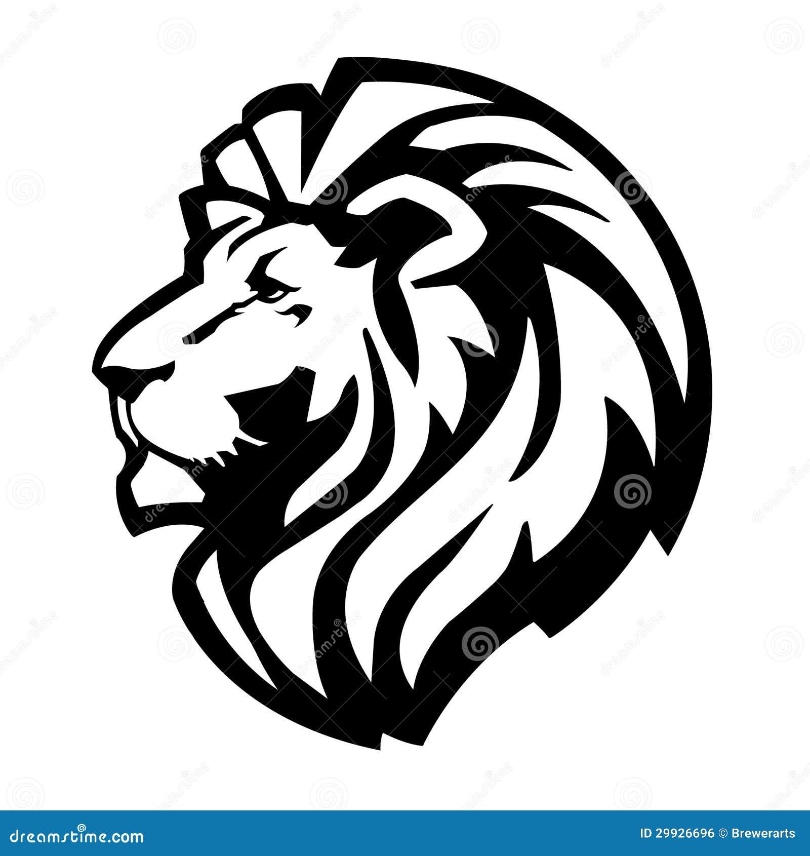 Simple lion head clipart - photo#19