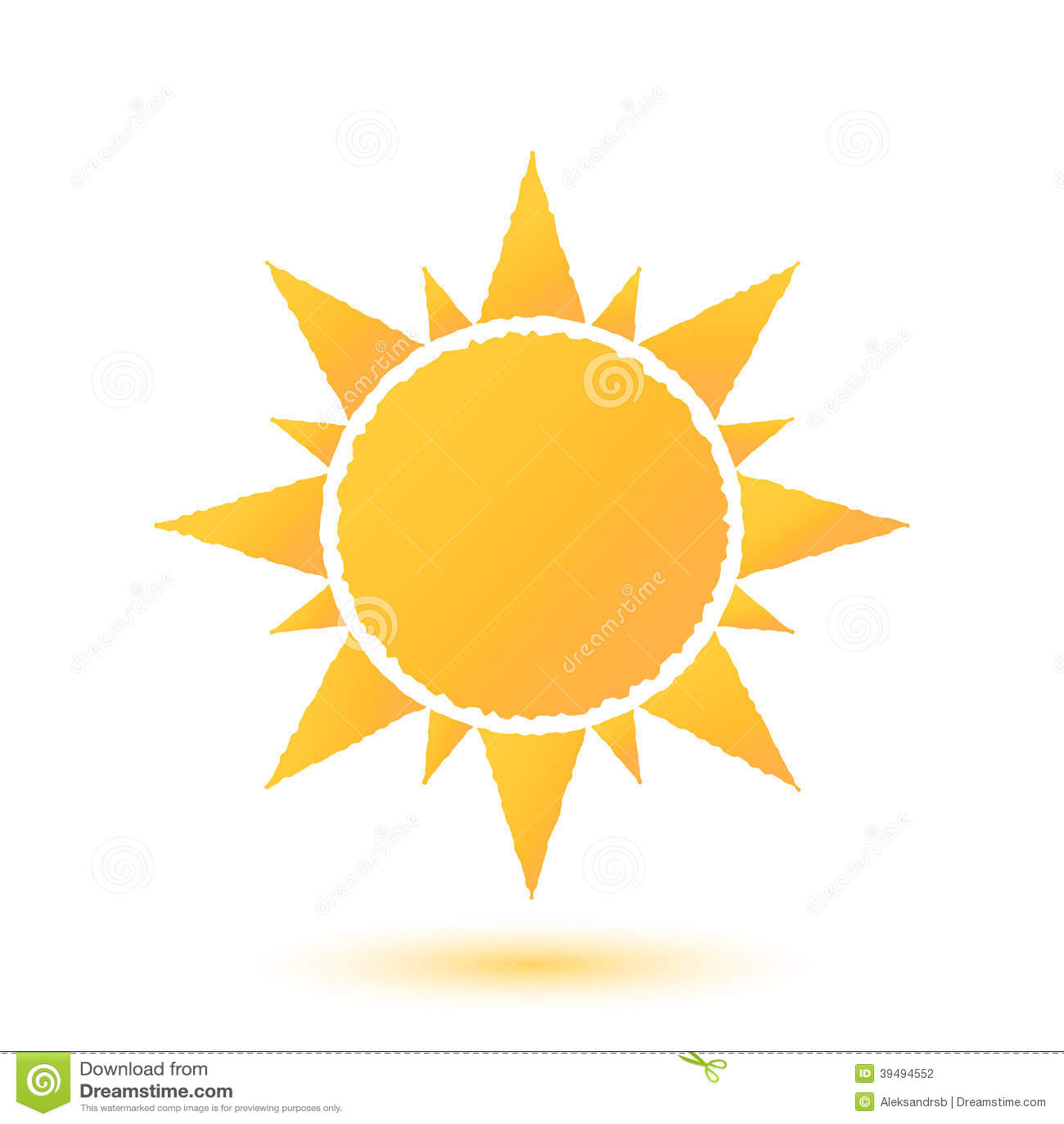 Simple illustration of abstract sun stock vector image for Illustration minimaliste