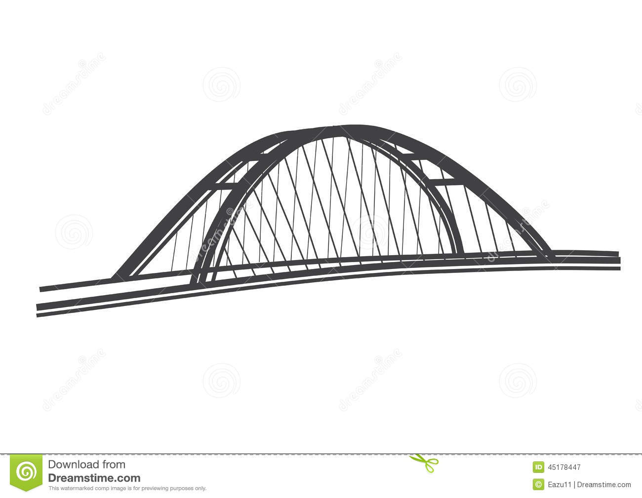 Simple Illustration Apollo Bridge Bratislava Stock