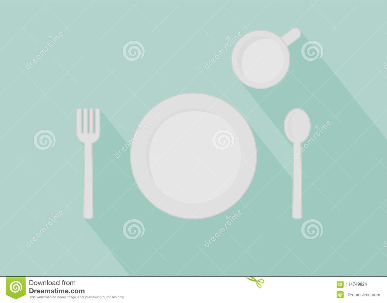 Illustration Of Eat Materials On The Table Stock Vector ...