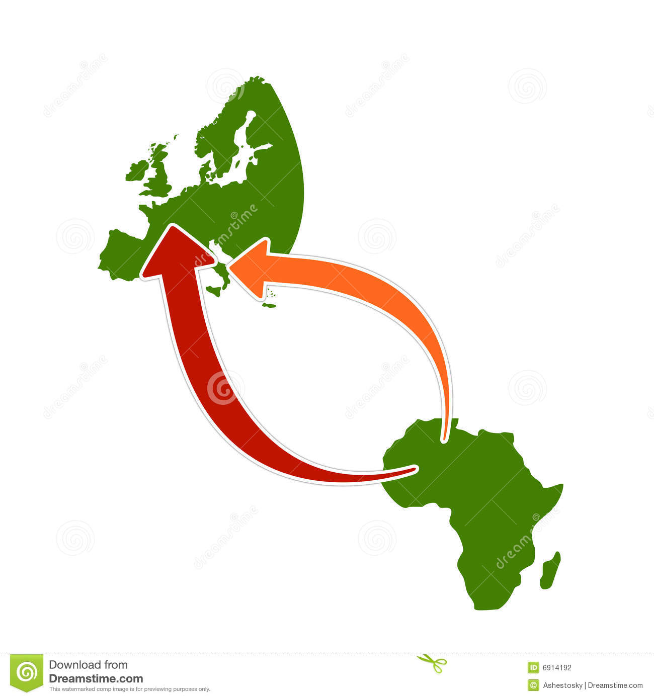 Simple illustration about emigration from africa stock for Illustration minimaliste
