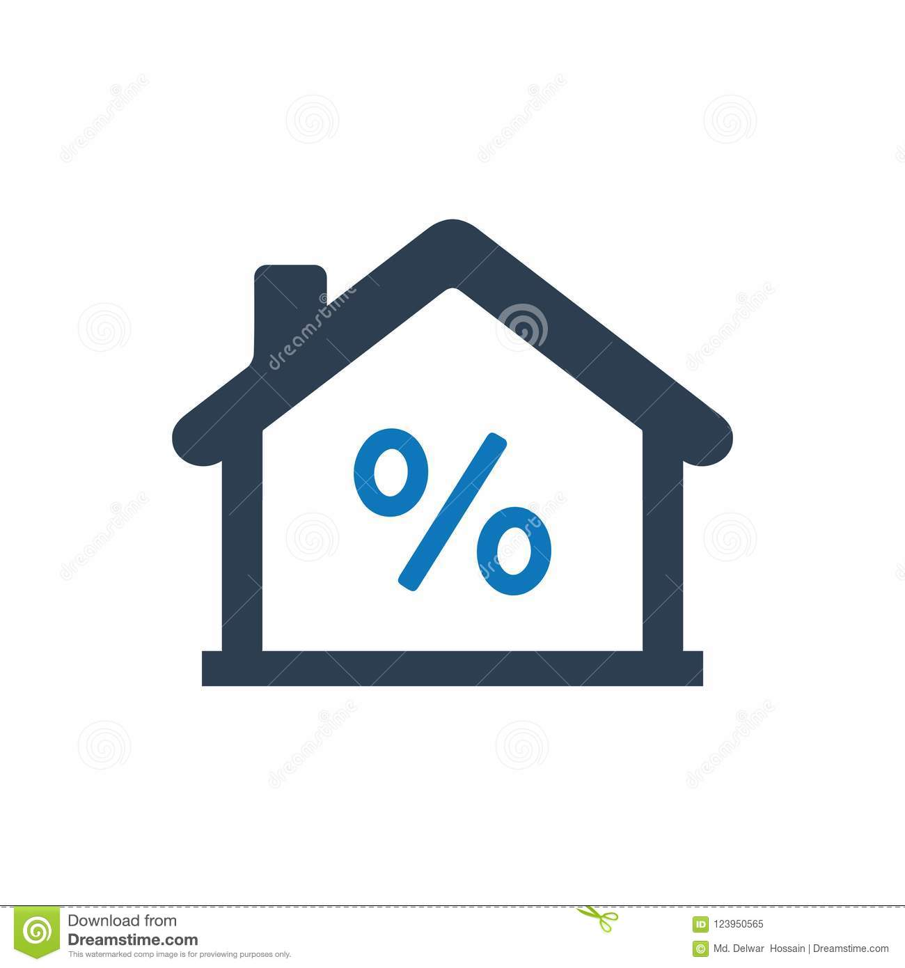 home loan icon stock vector illustration of sale mortgage 123950565