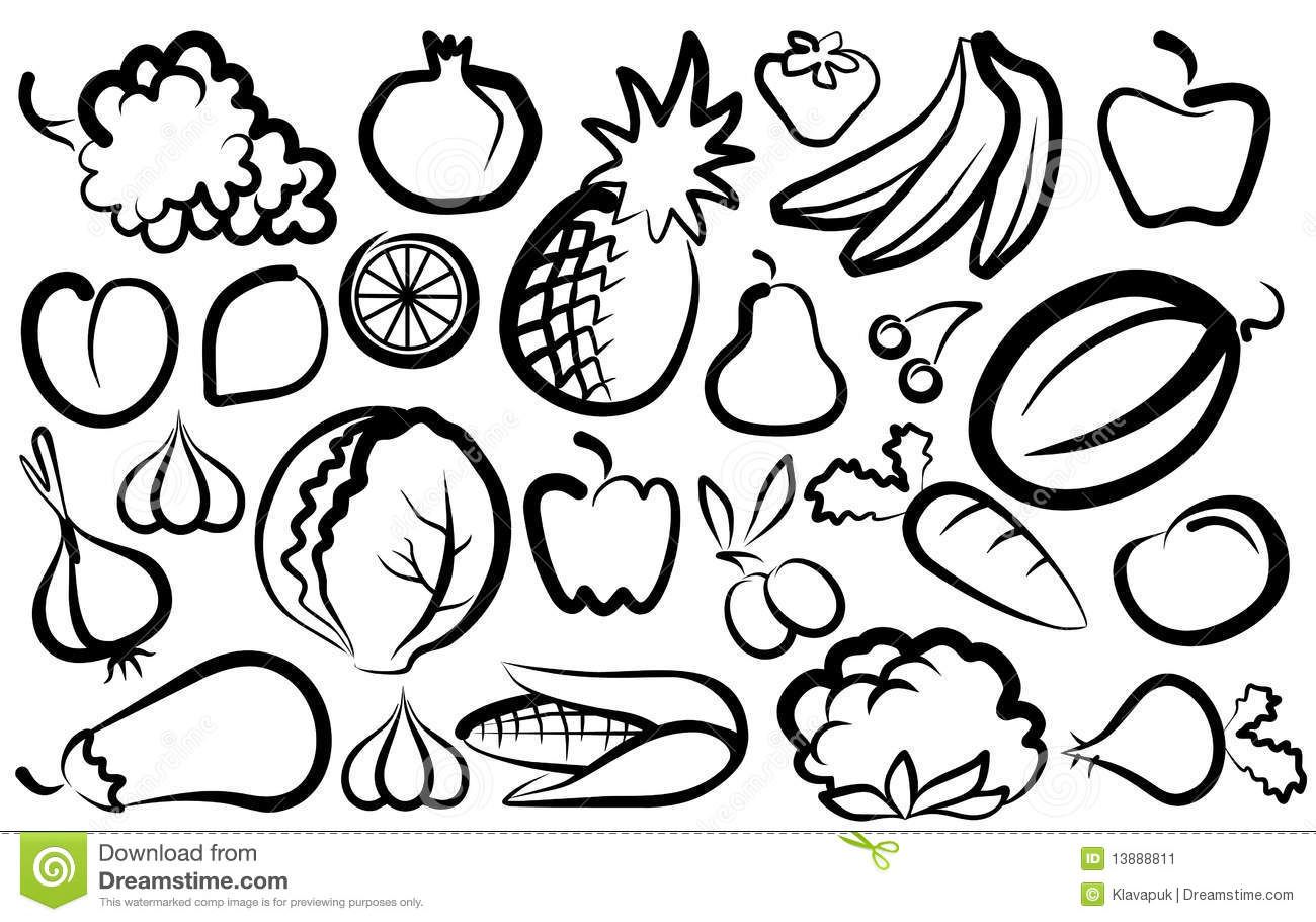 Simple Images Of Vegetables And Fruit Stock Image Image 13888811