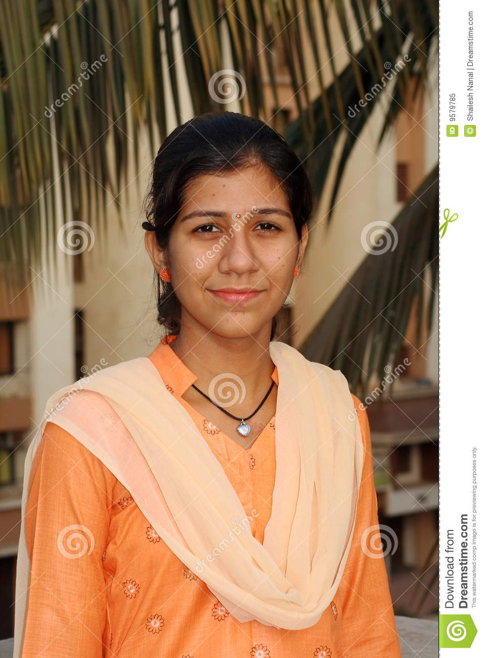 Simple Indian girl stock image. Image of bright, woman - 9579785