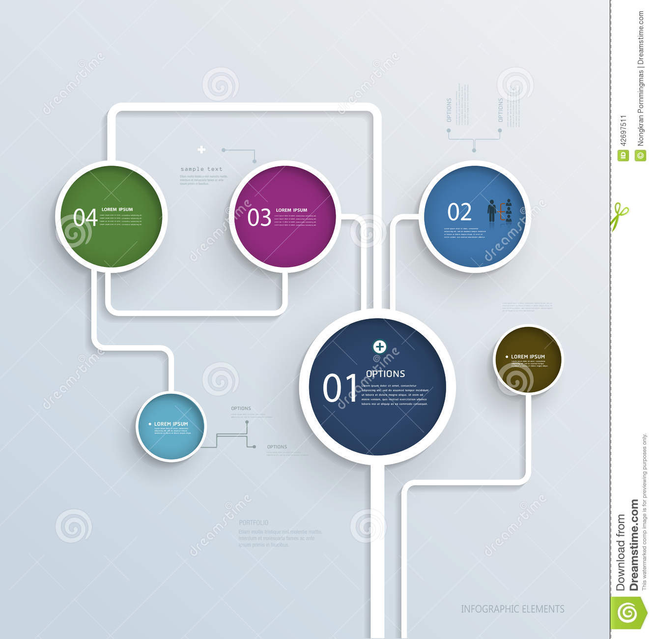 simple infographic elements design template stock vector