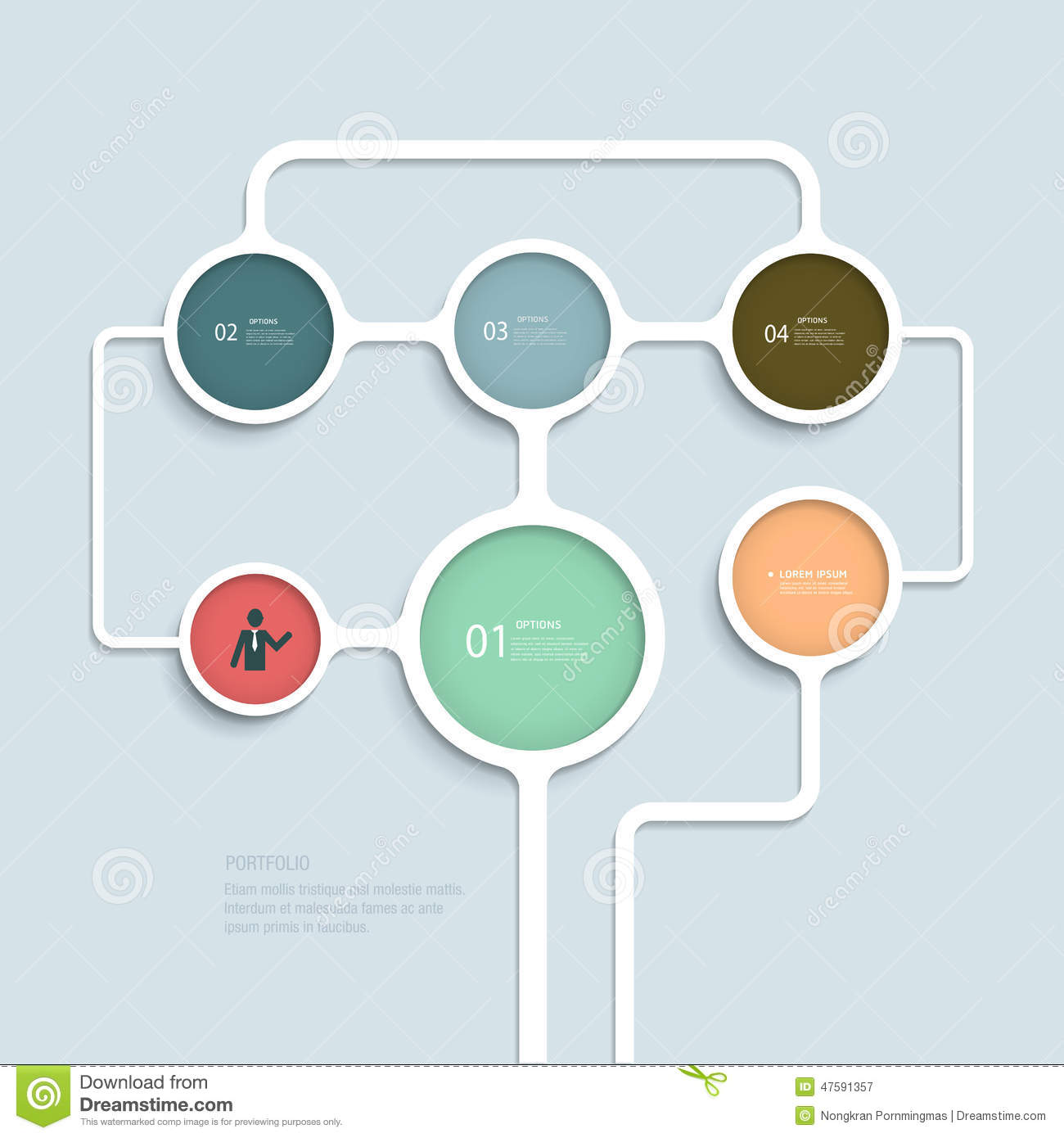 Simple Infographic Elements Design Template Stock Vector ...