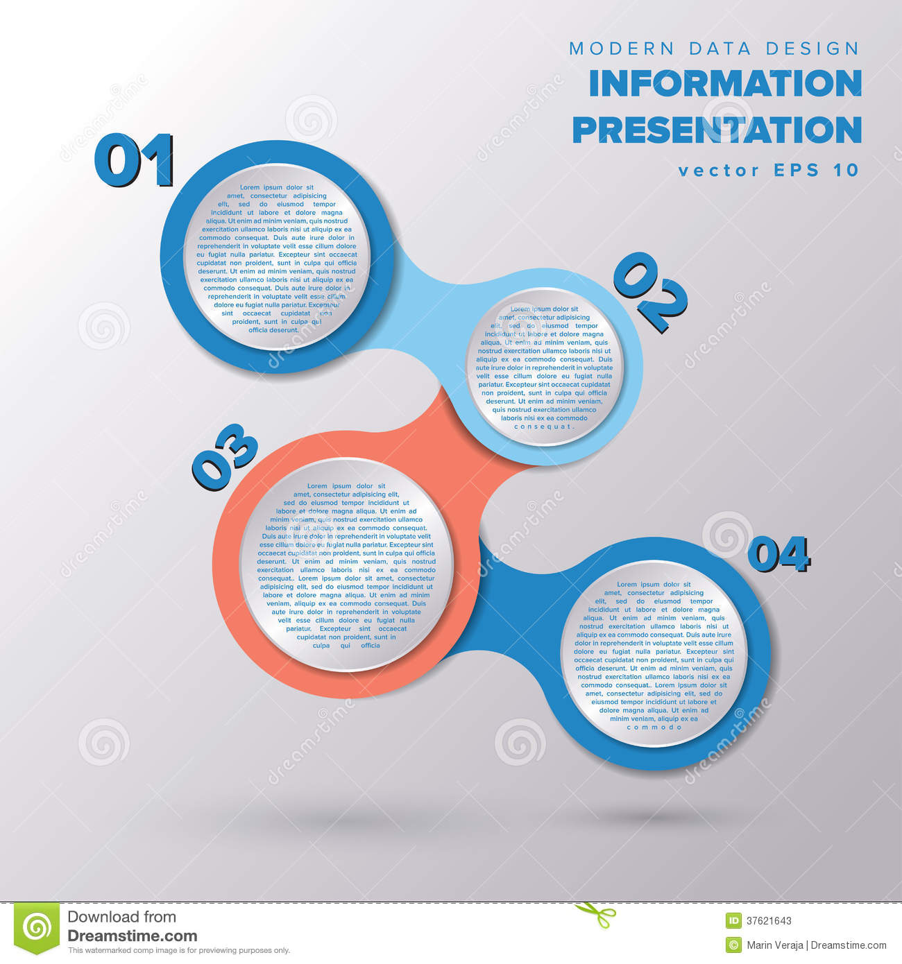 Simple Infographic Metaball Template Design Stock Photos