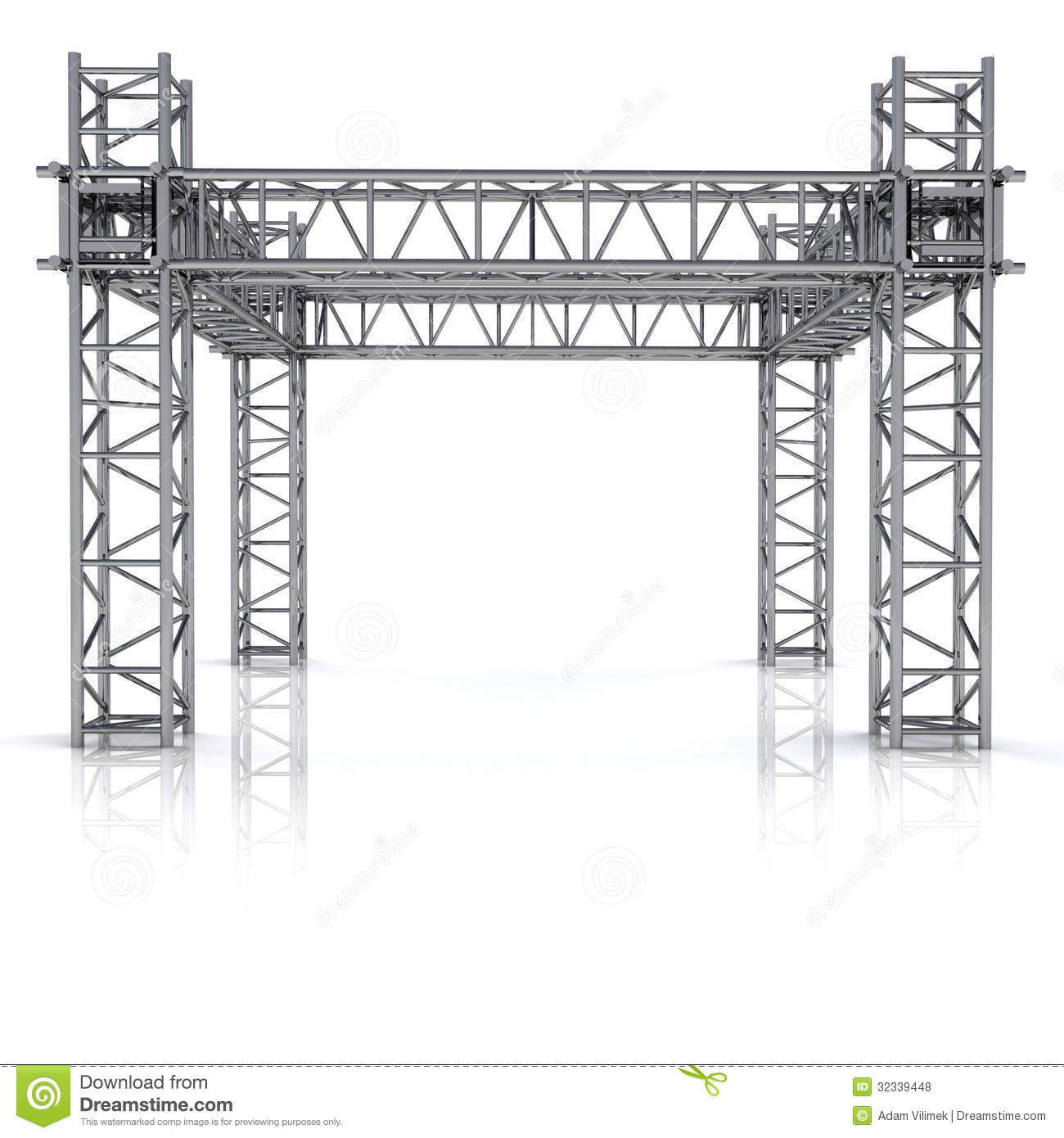 Simple Iron New Building Construction Frame Stock Illustration ...