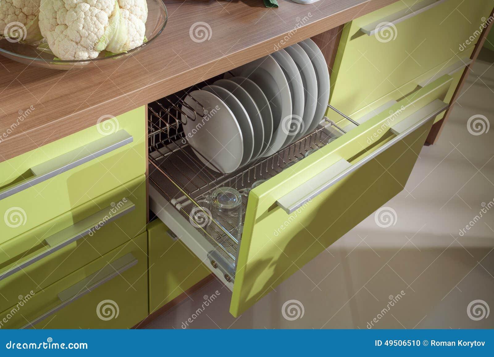 Simple Kitchen Furniture Macro Photo Stock Photo - Image of drawer