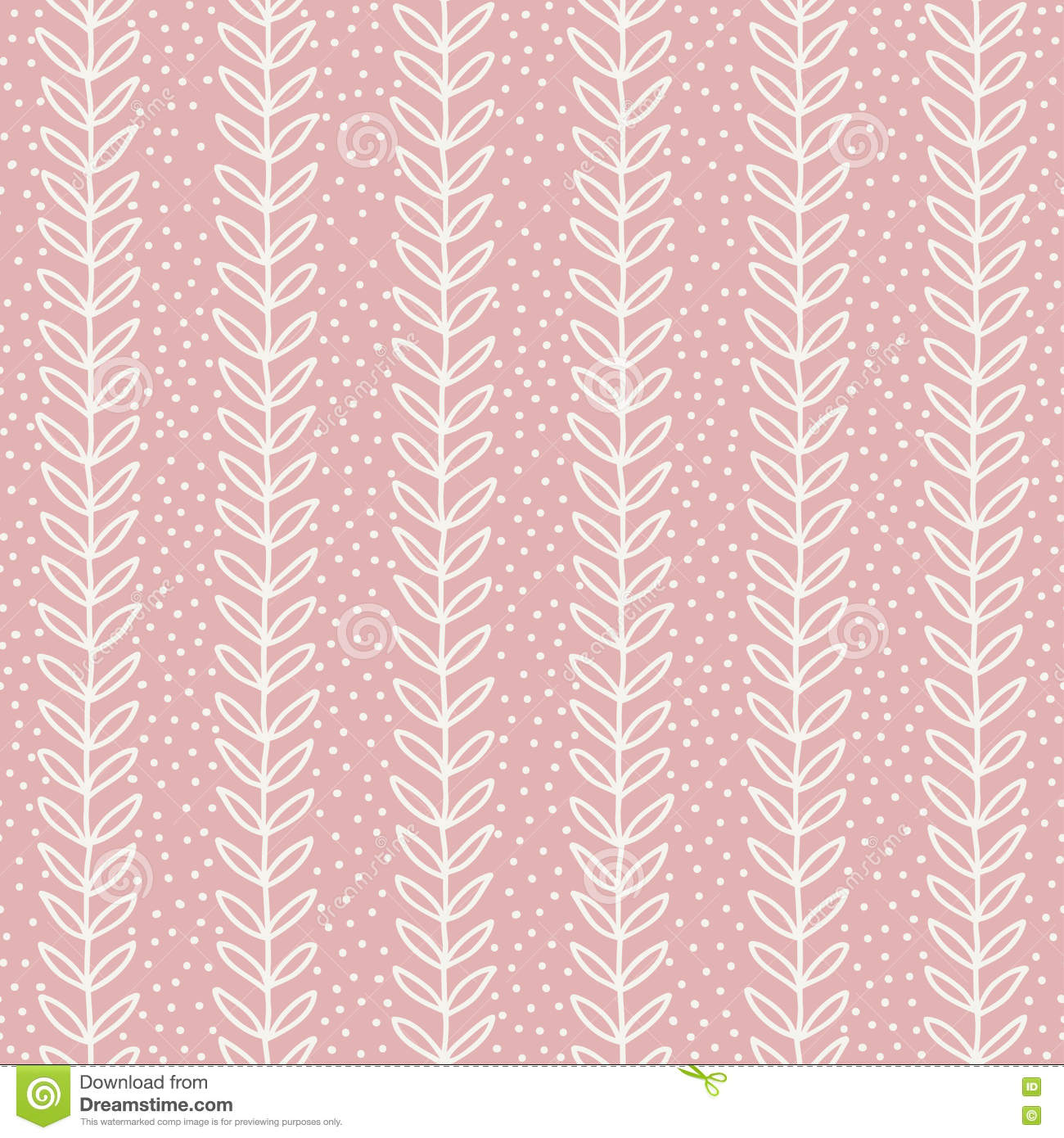 simple leaf seamless pattern hand drawn pink background. Black Bedroom Furniture Sets. Home Design Ideas