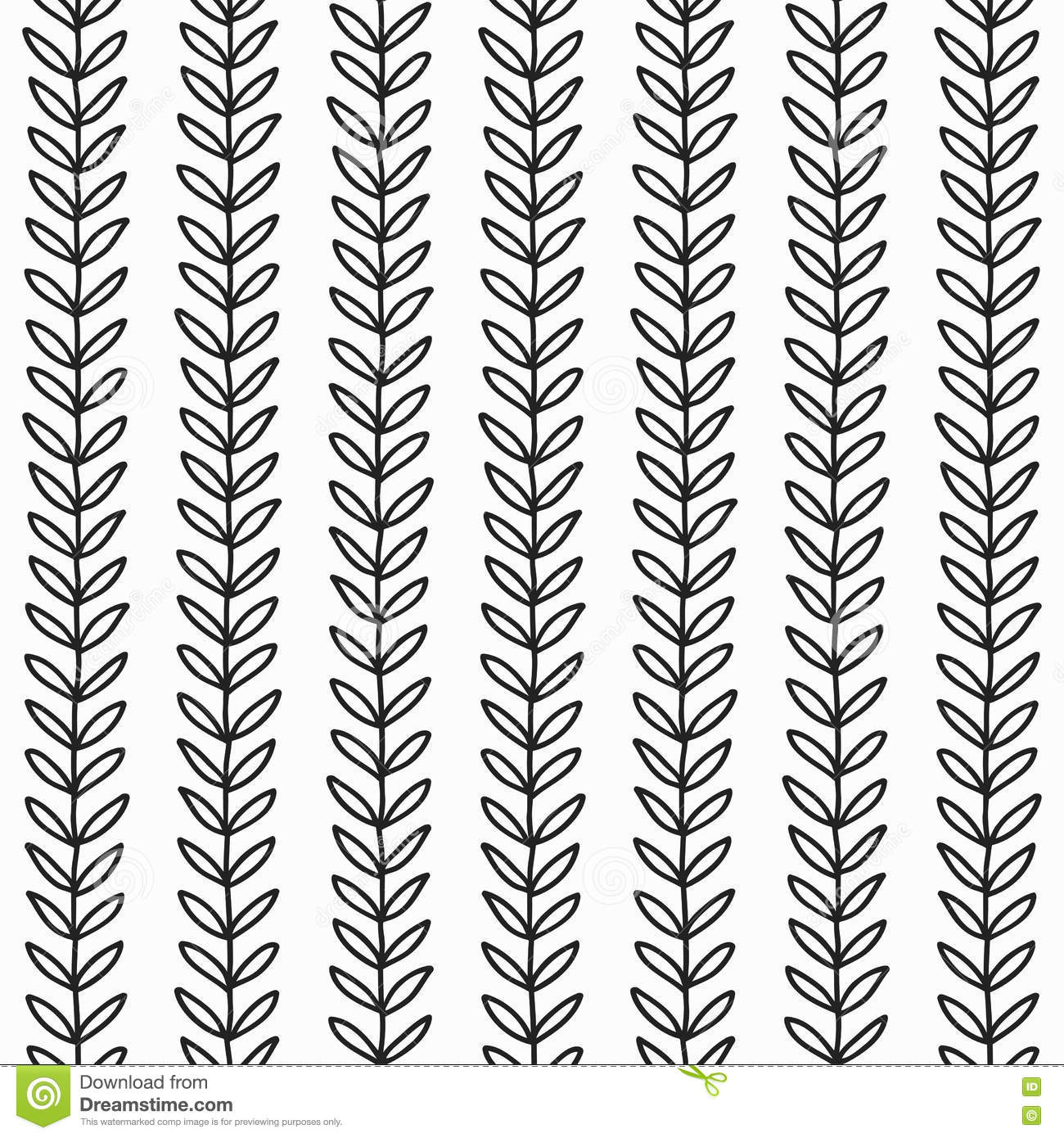 Simple Leaf Seamless Pattern Stock Vector Illustration Of
