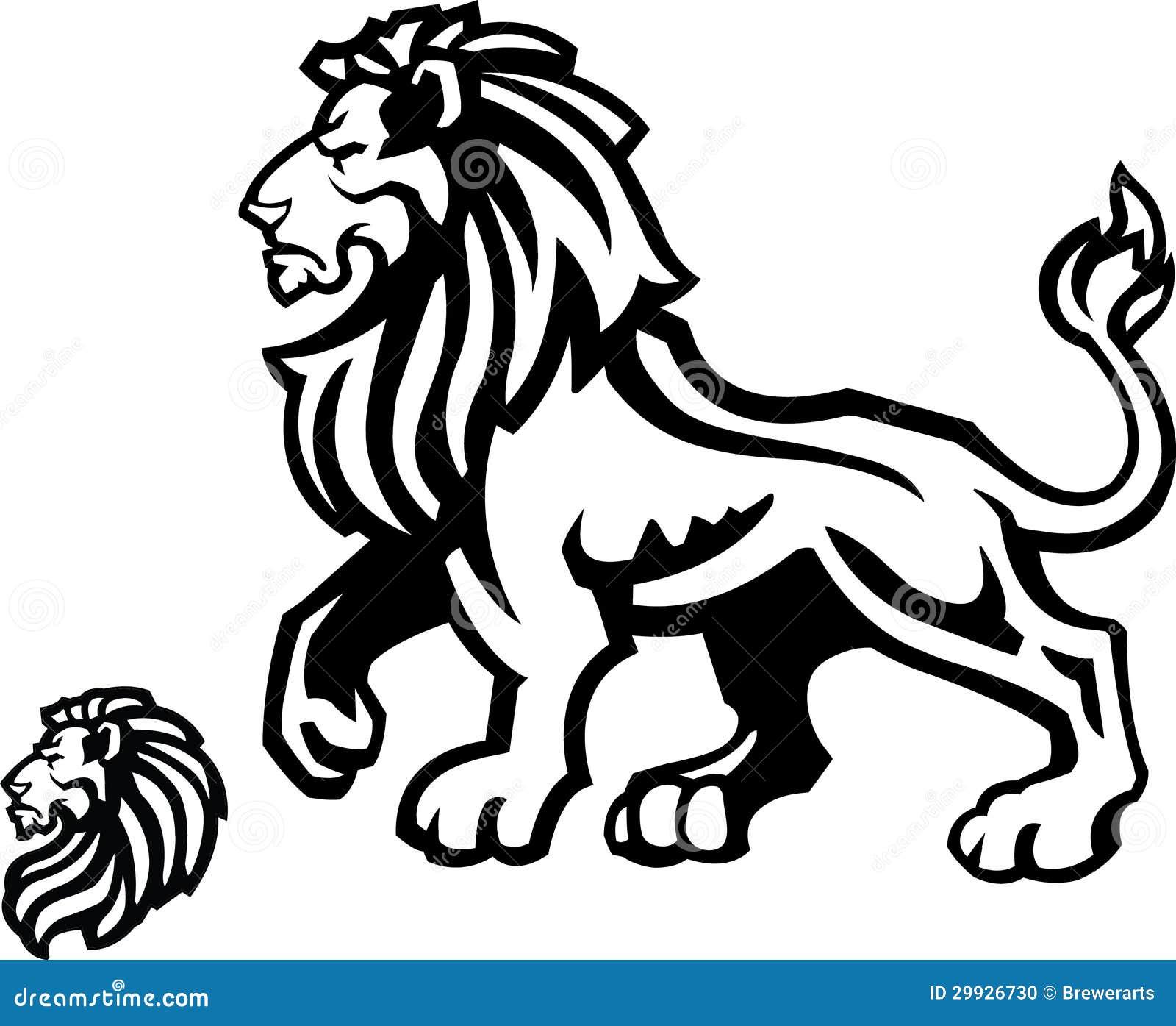 Lion Mascot Profile On White Stock Photo Image 29926730