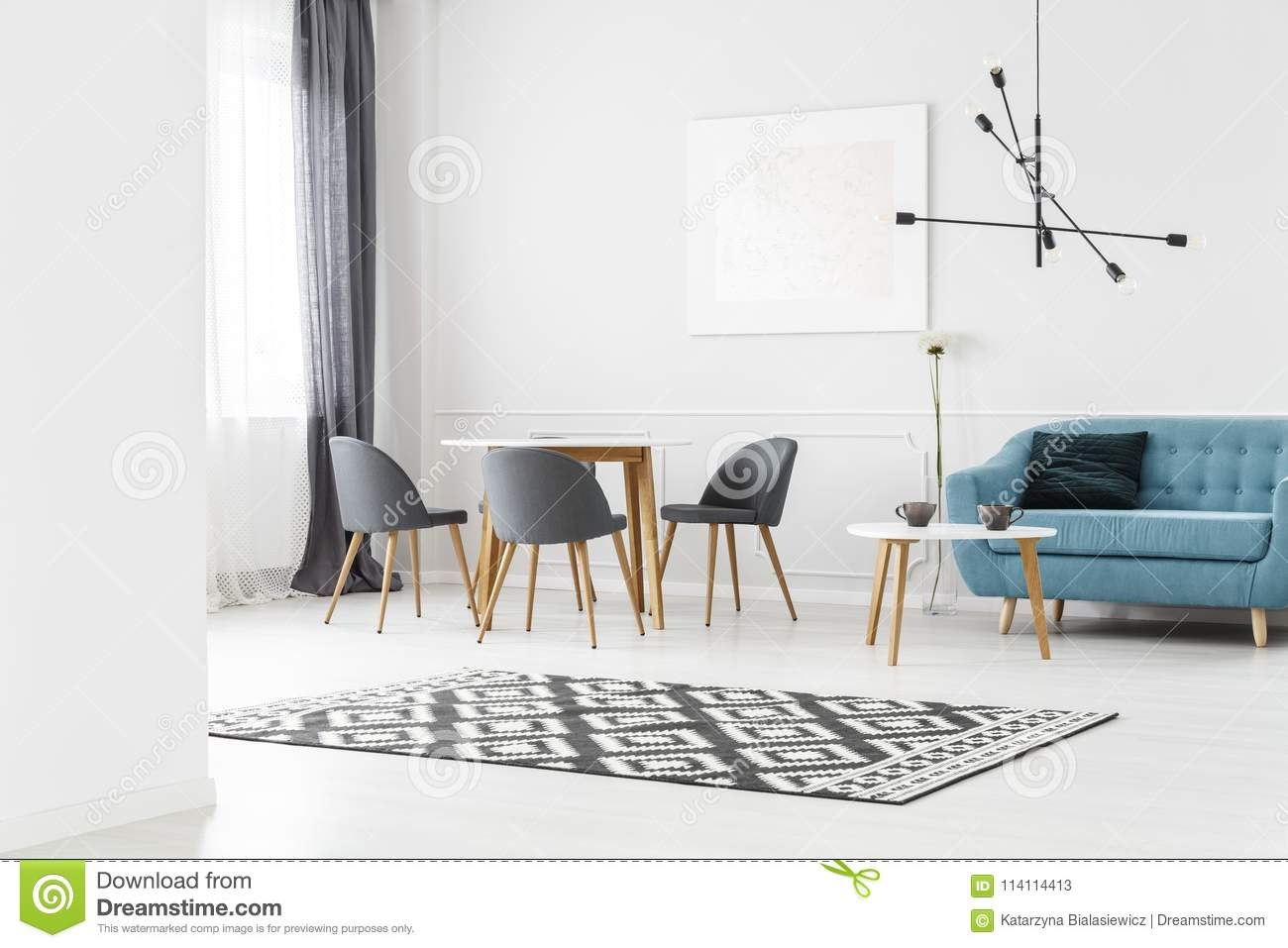 Download Simple Living Room Stock Illustration Of Apartment