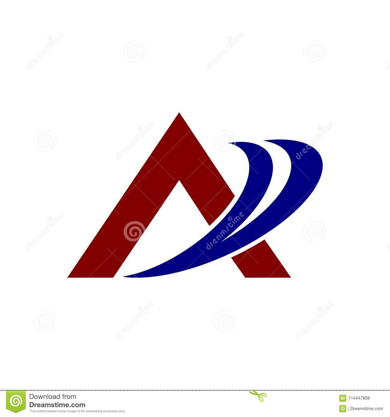 Simple Logo Letter A In Vector Format And Can Stock Illustration Illustration Of Black Icon 114447808