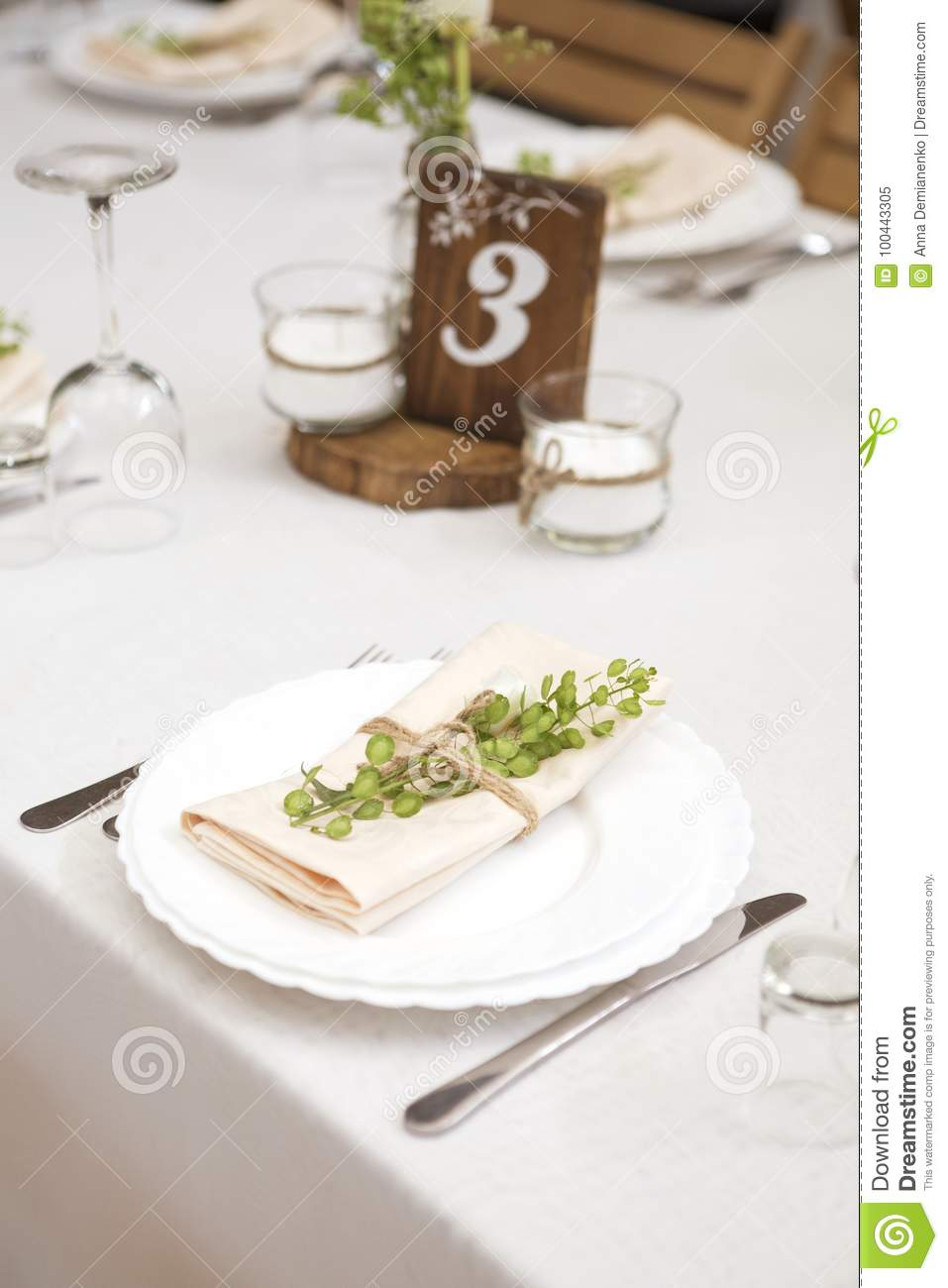 Simple But Luxury Rich Table Setting For A Wedding Celebration I