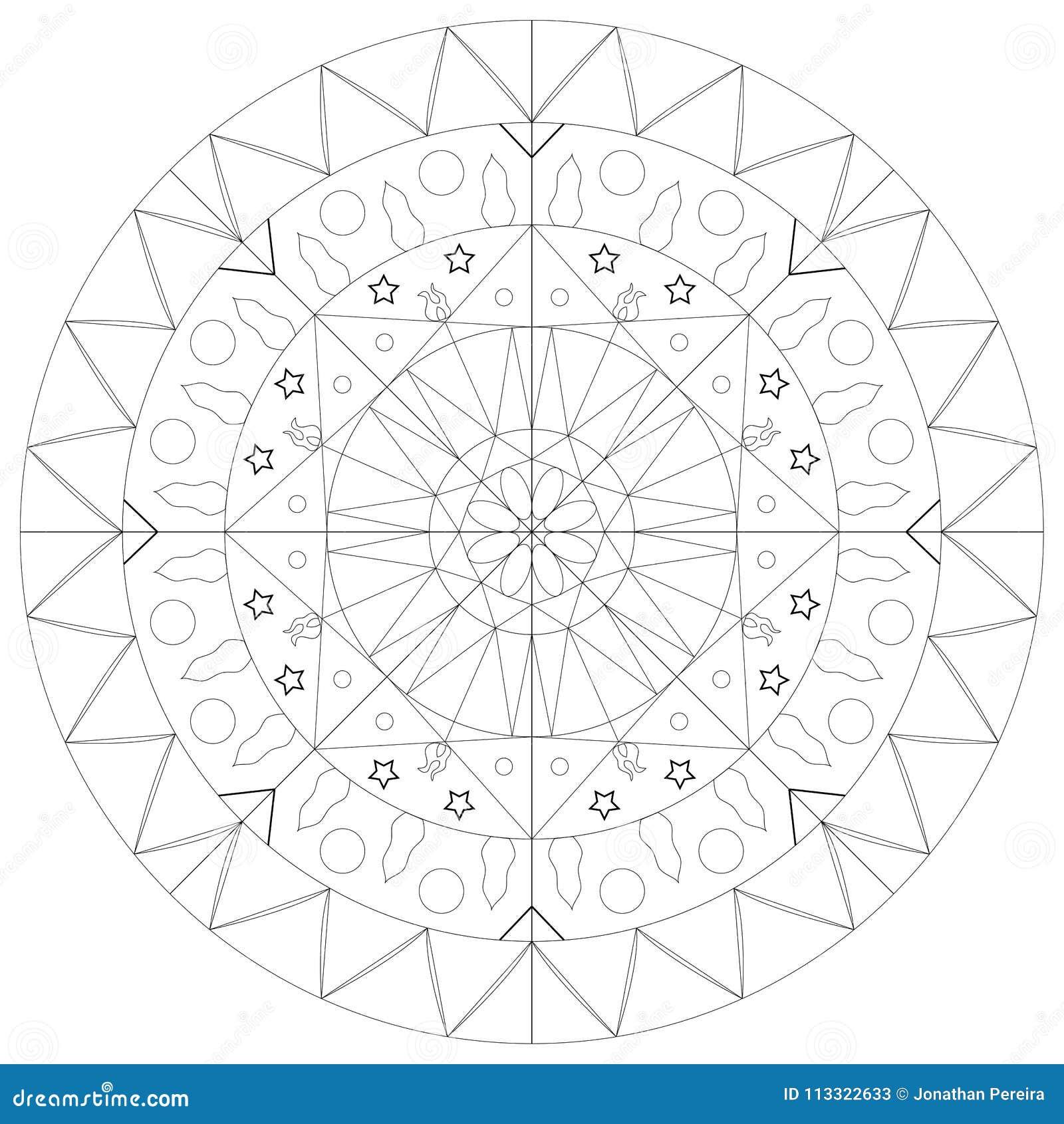 Simple mandala outline stock vector  Illustration of design
