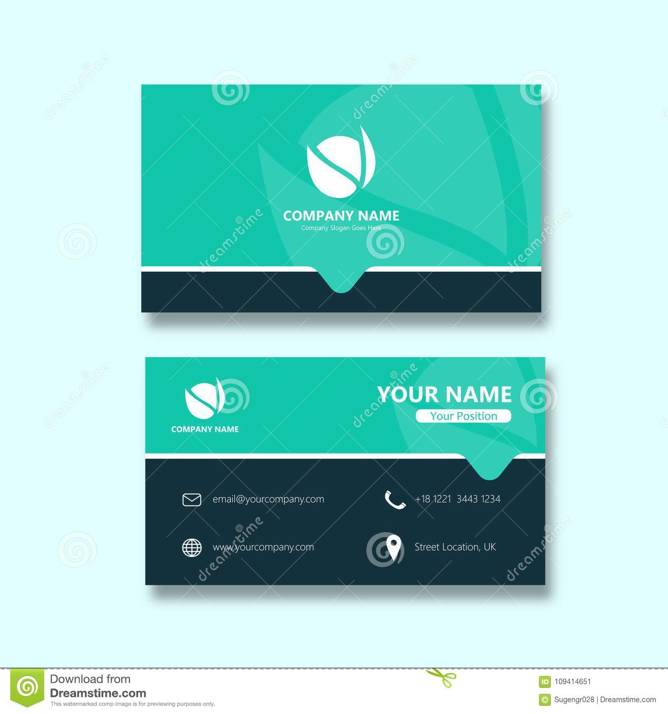 Simple Map Business Card stock vector. Illustration of member ...