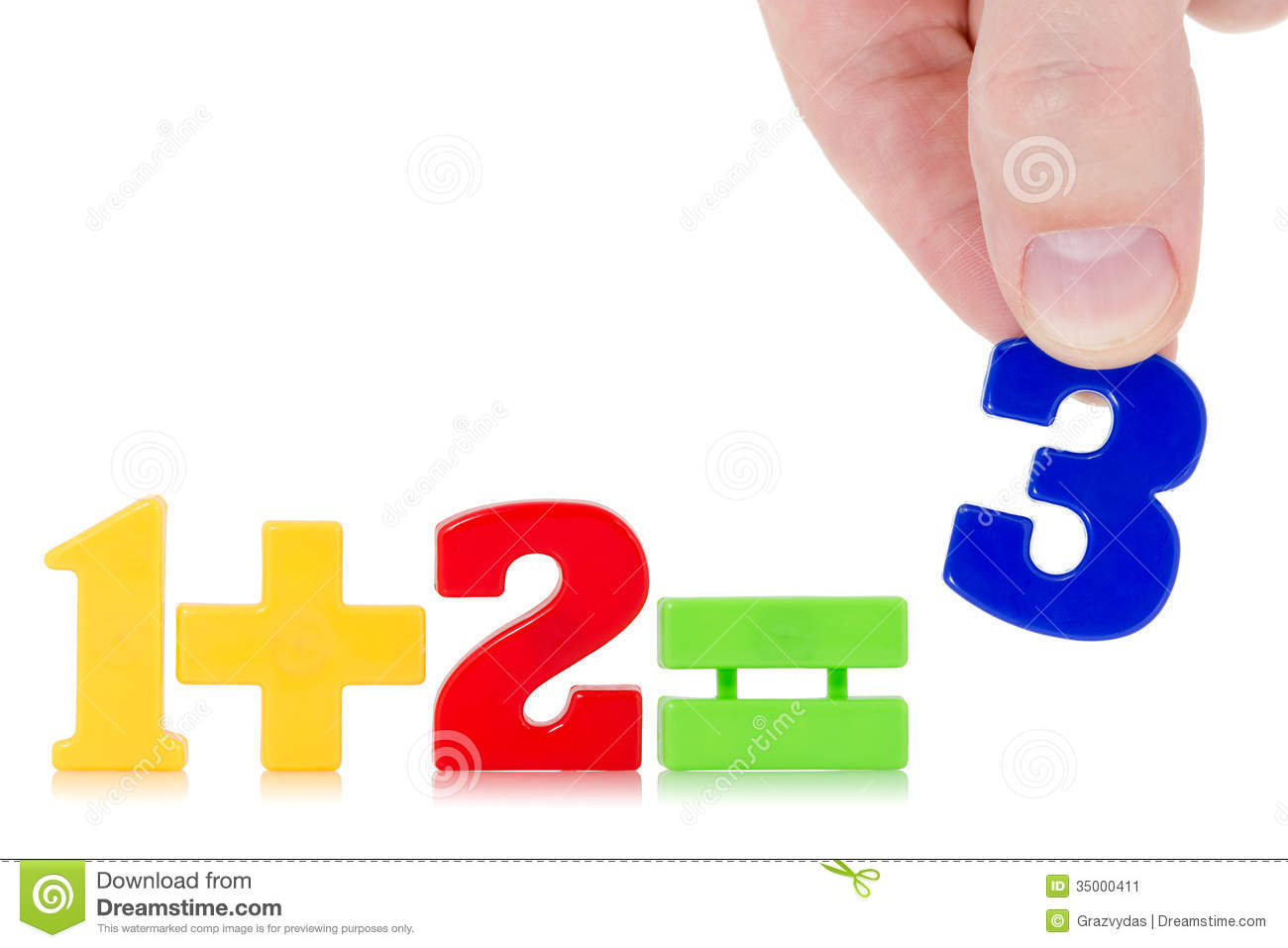 Simple math example stock image. Image of calculate, mathematics ...