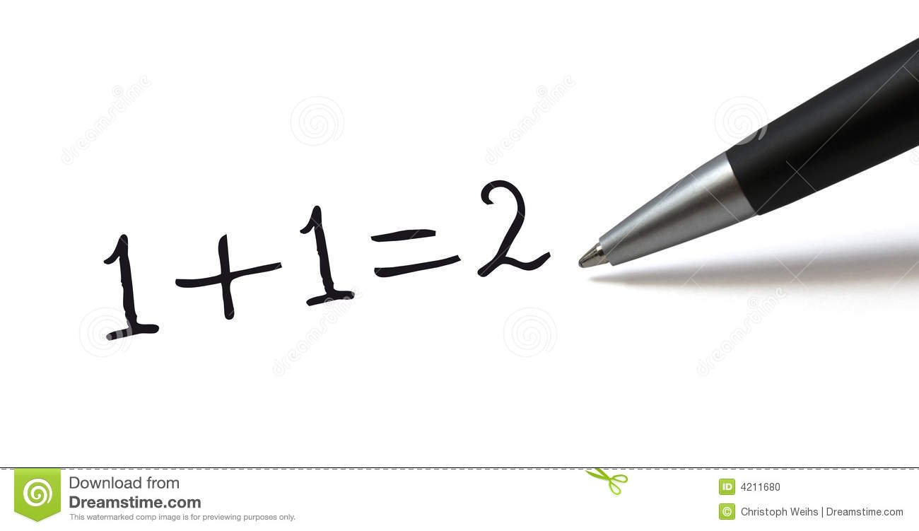 Simple Math Formula Stock Photo - Image: 4211680