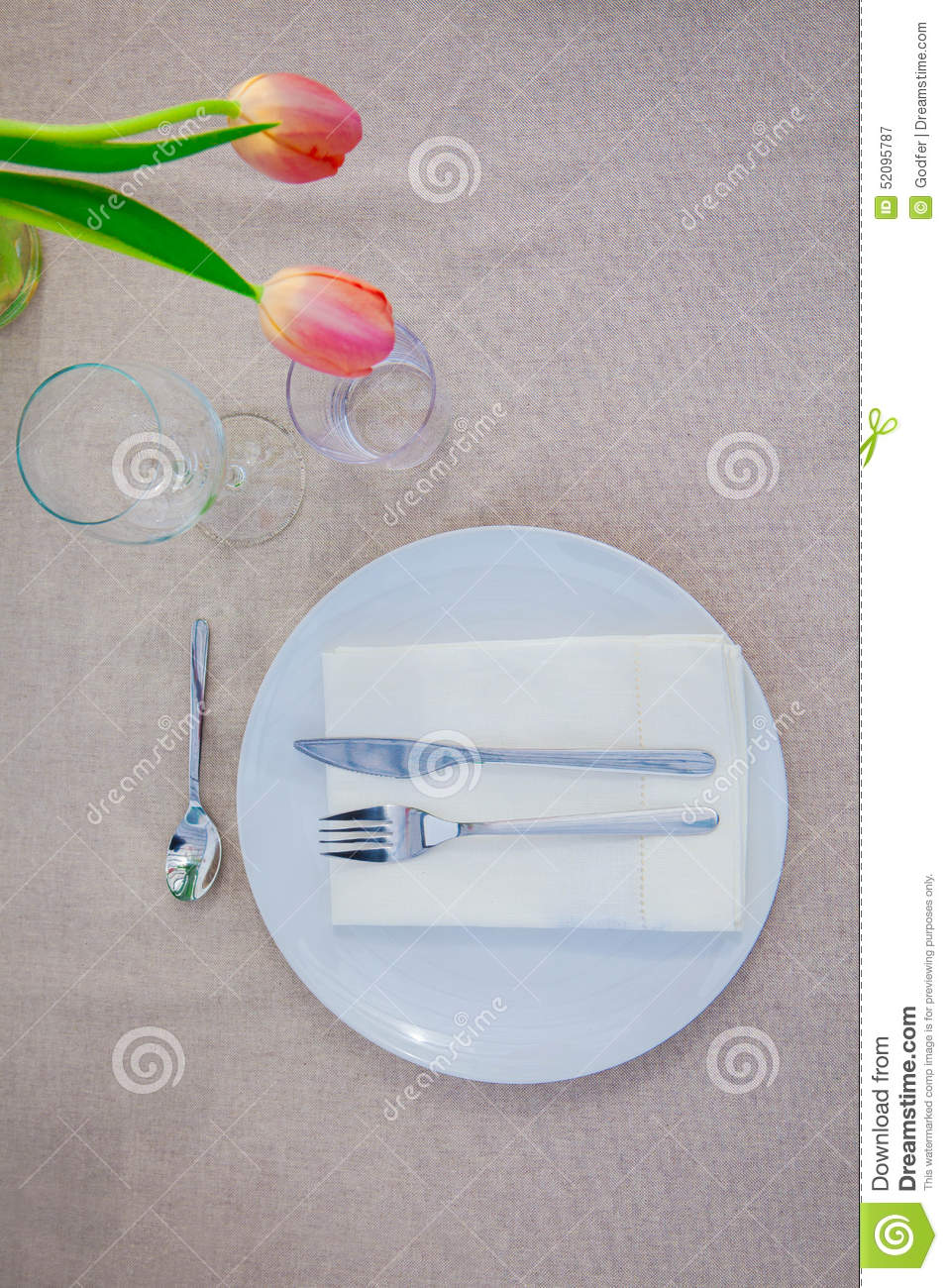 Simple meal table setting stock photo image 52095787 Simple table setting for lunch