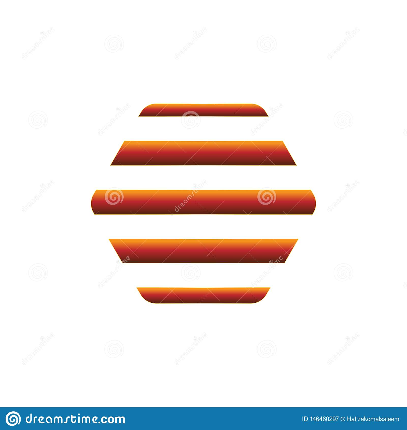 Creative minimal flat logo  honey comb design