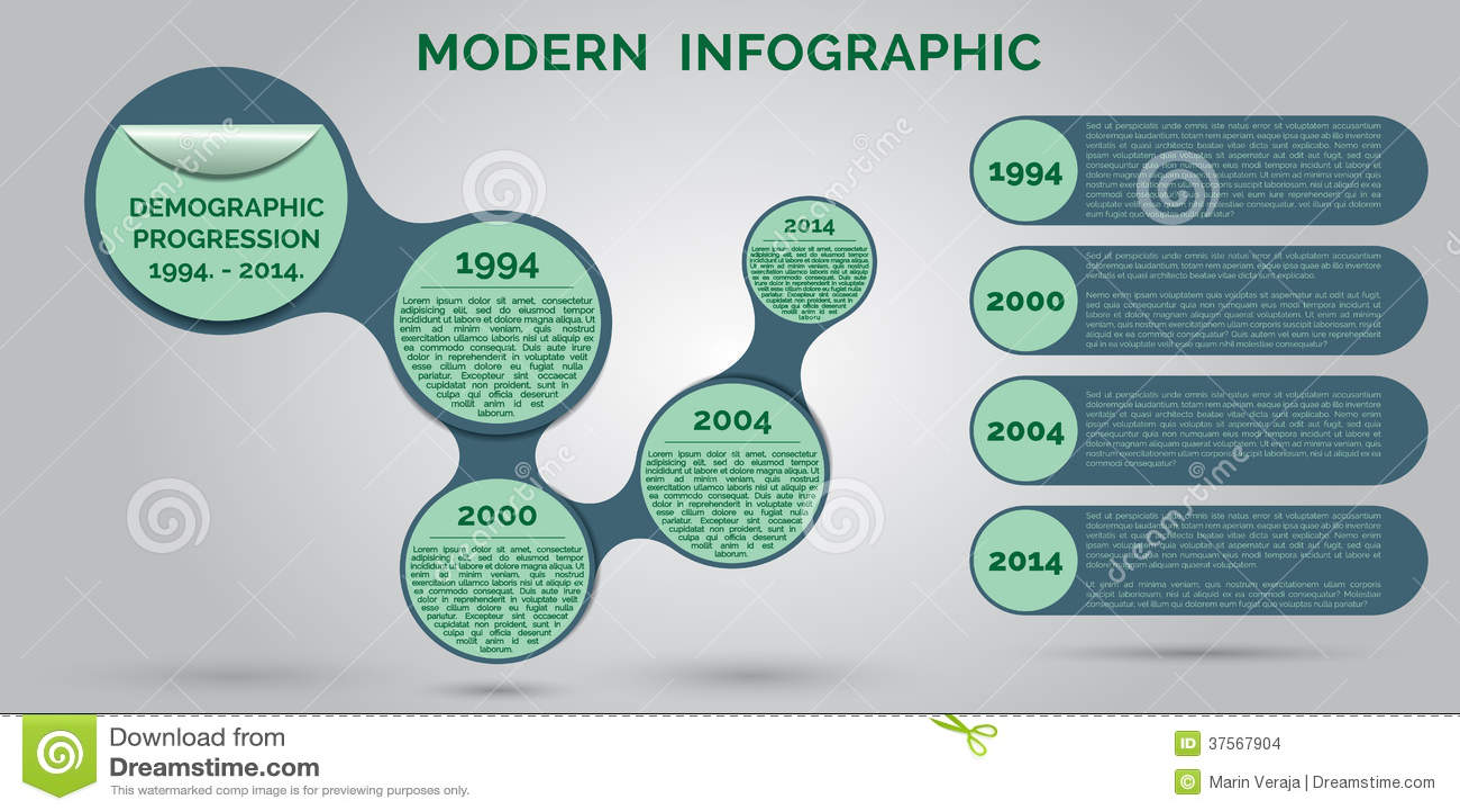 Simple Minimalistic Infographic Template Design Stock ...