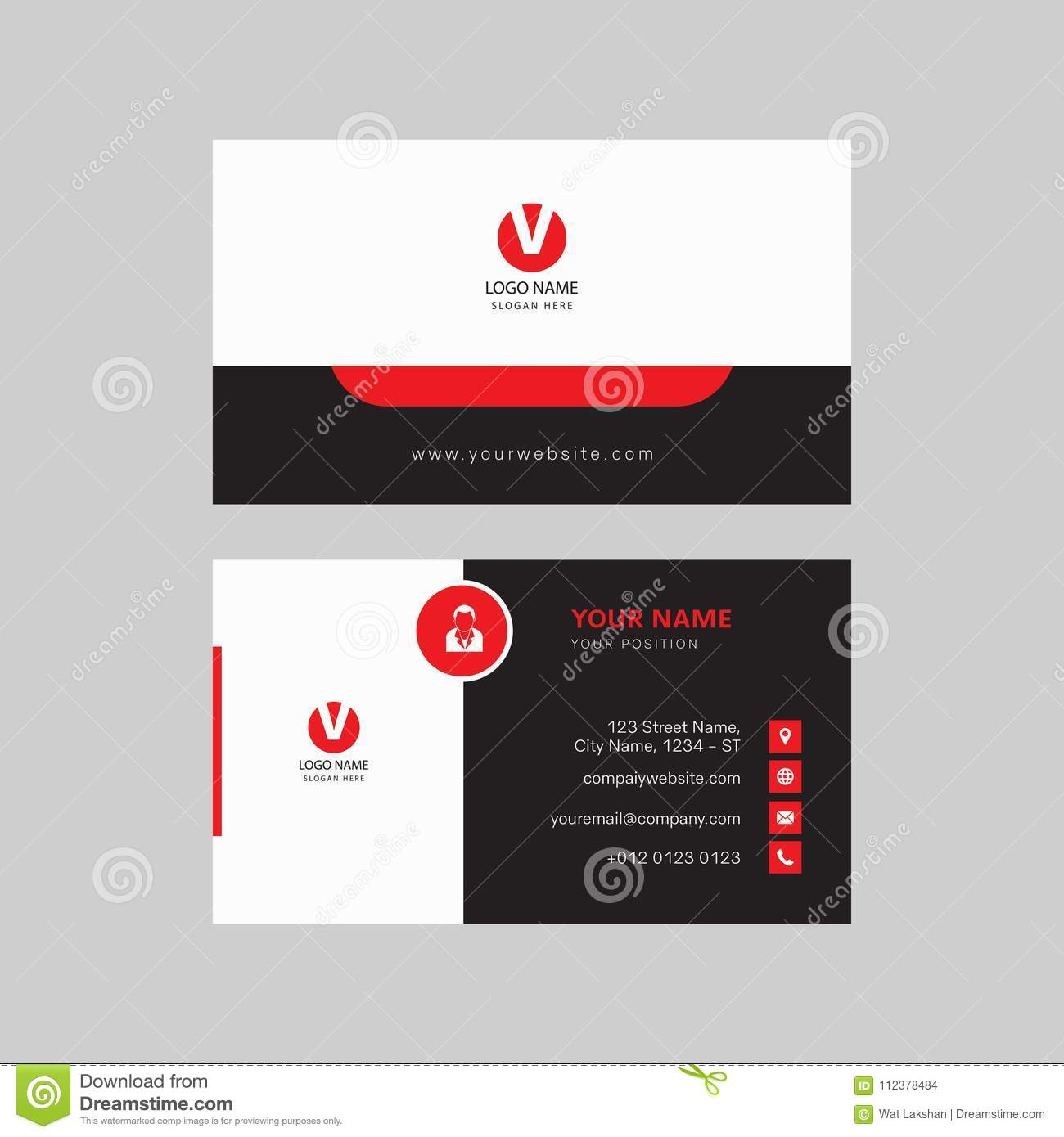 Simple Modern Professional Creative Business Card Design