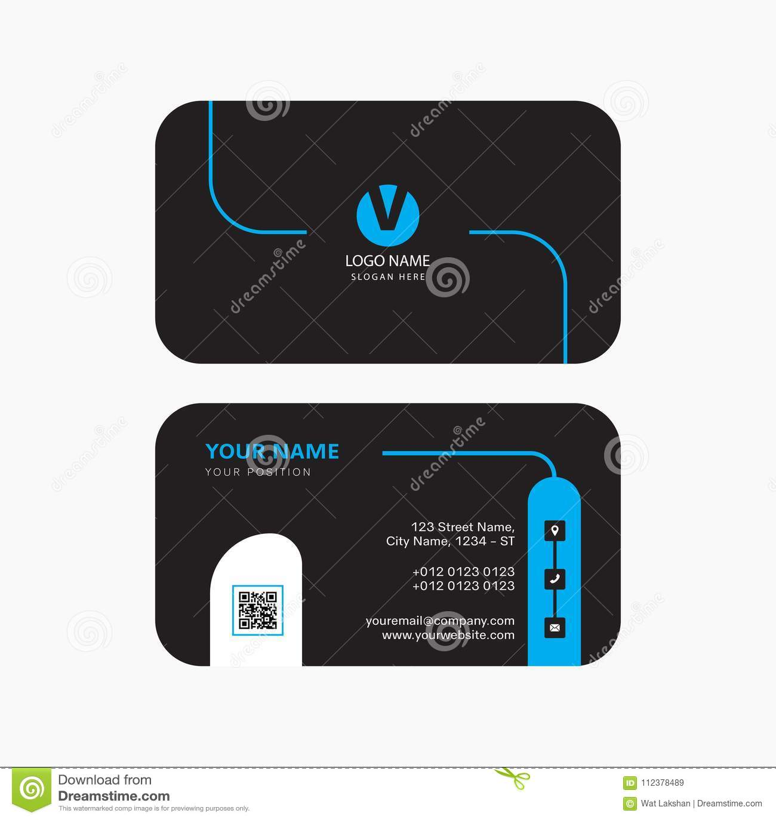 Simple Modern Professional Creative Business Card Design Stock ...