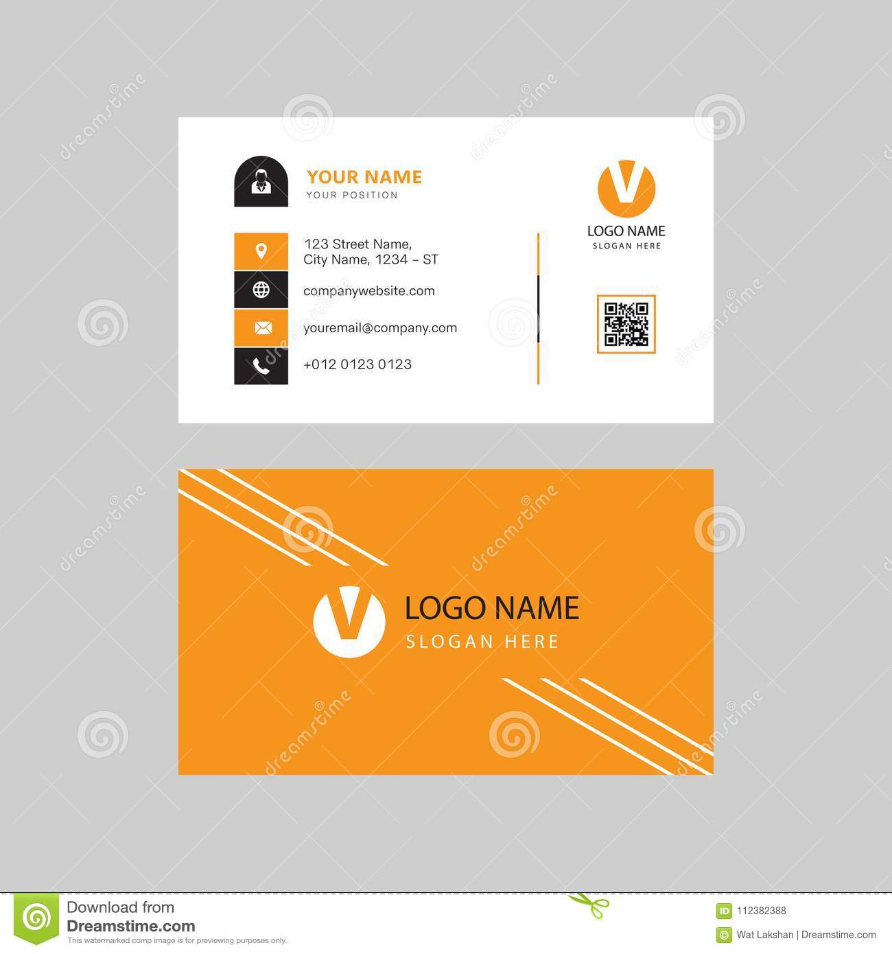 Simple Modern Professional Creative Business Card Design Stock Vector Illustration Of Corporate Print 112382388