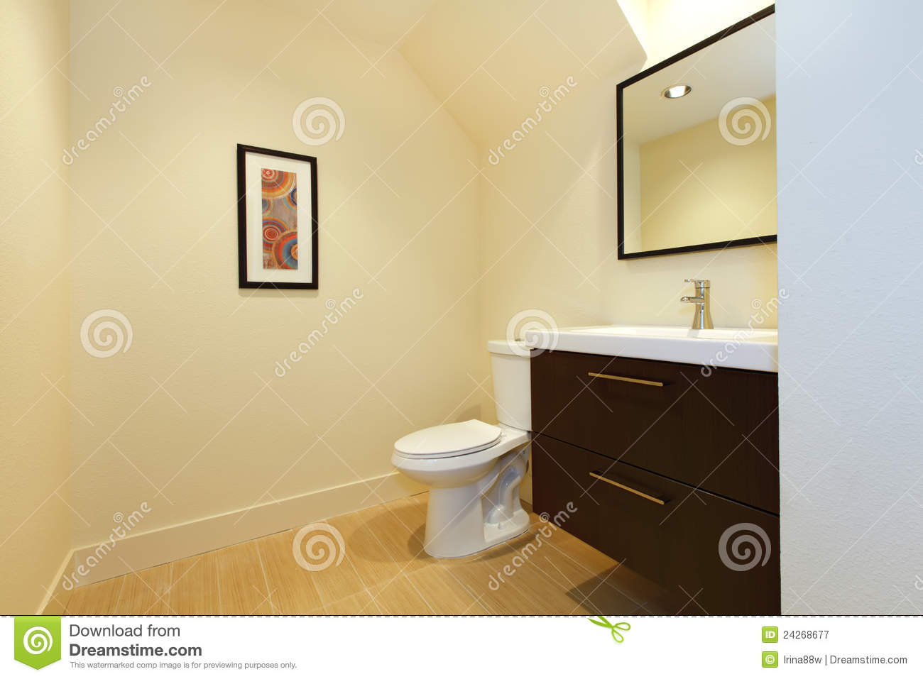 Simple New Modern Bathroom Royalty Free Stock Photography Image 24268677