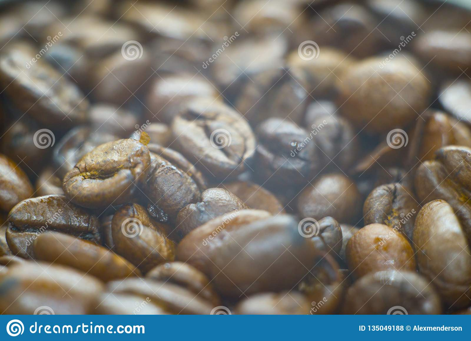 Photo of a fresh coffee beans