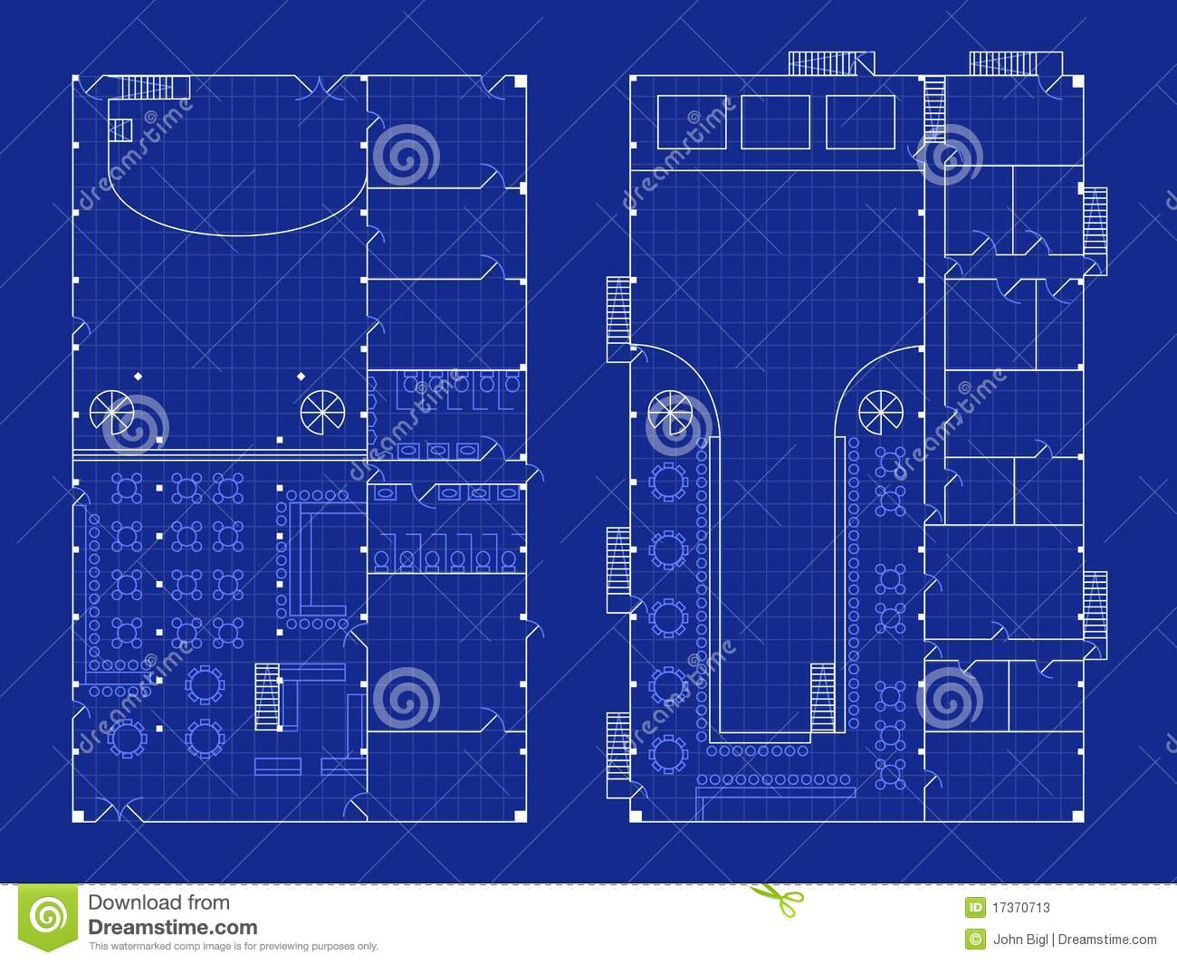 Simple Nightclub Blueprint Stock Photos Image 17370713