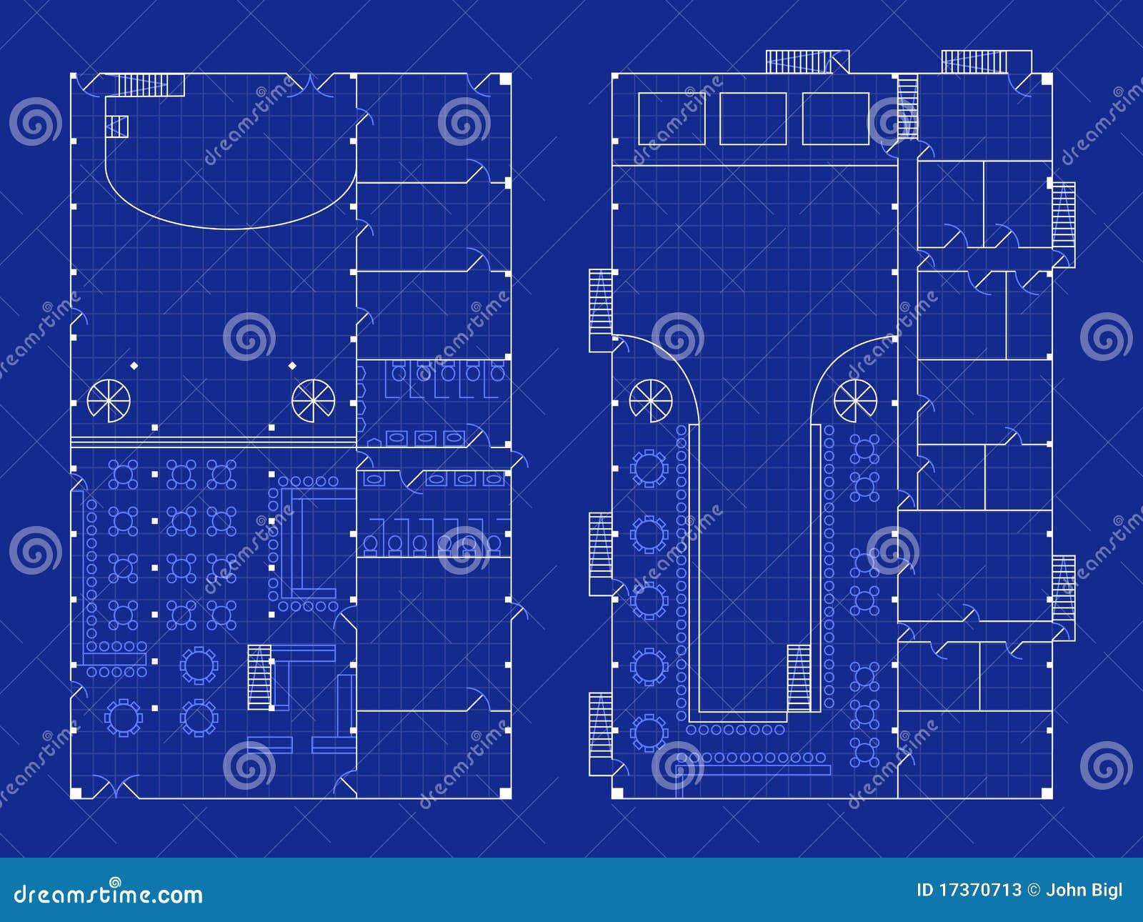 Floor Plan Blueprints Free Simple Nightclub Blueprint Stock Vector Illustration Of