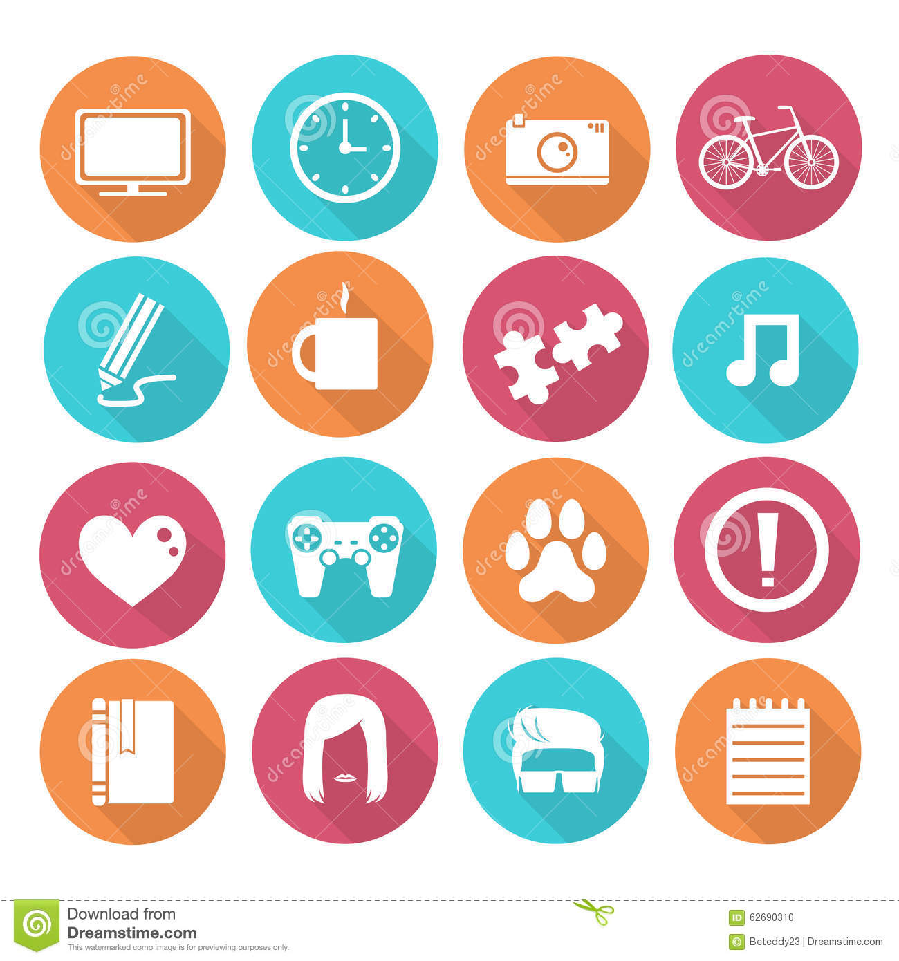 Simple objects icons stock vector. Illustration of blue 62690310.