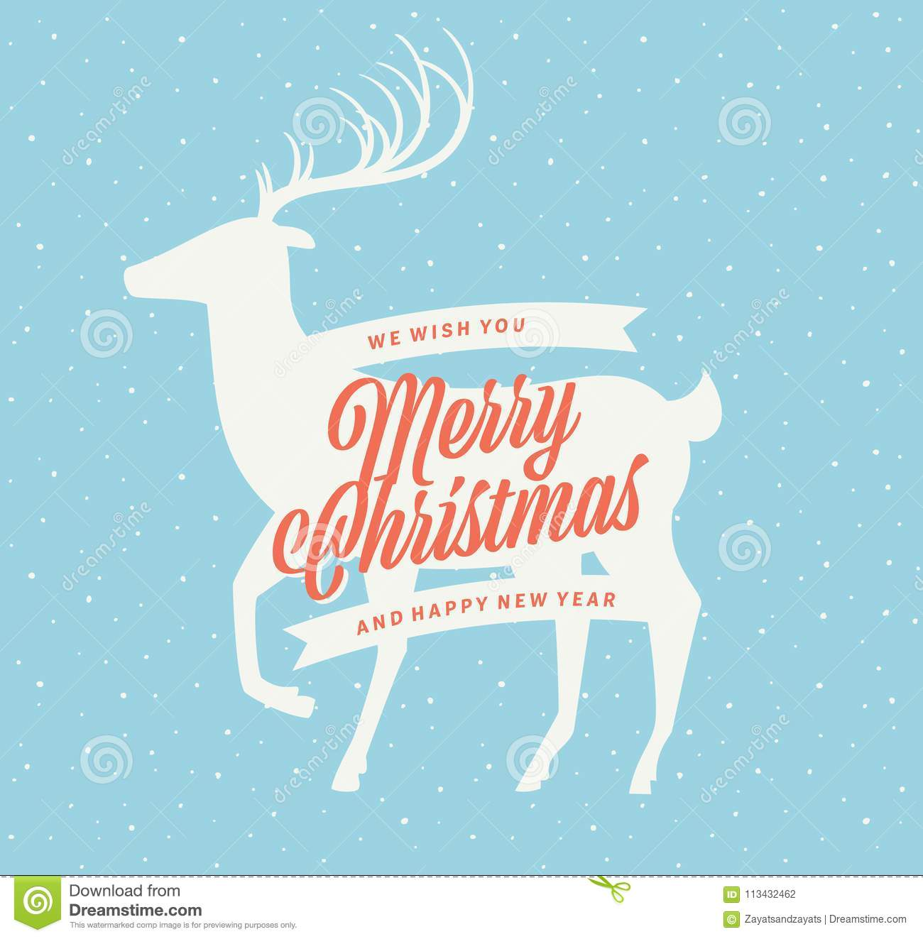 download christmas deer sign stock vector illustration of blue 113432462 - How To Sign A Christmas Card