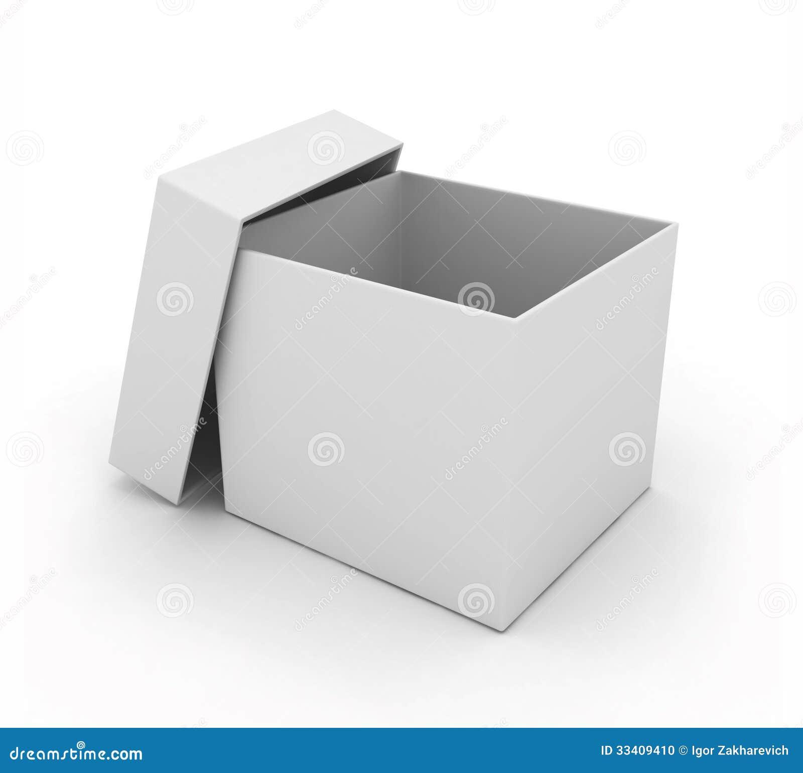 Simple open box on white stock illustration. Illustration ...