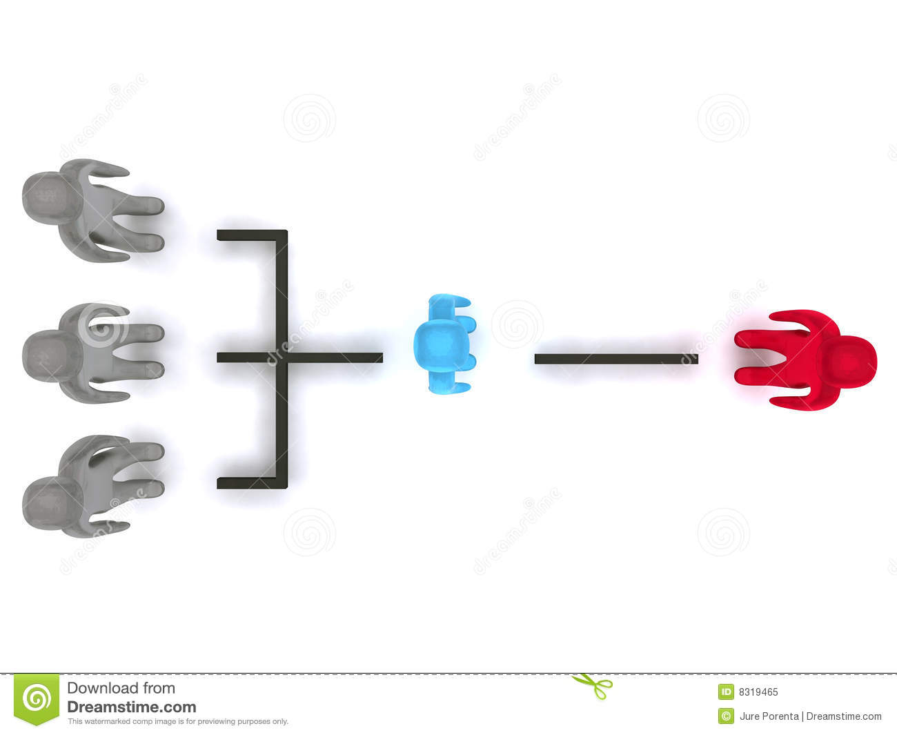 Simple Organizational Structure Royalty Free Stock Photo - Image ...