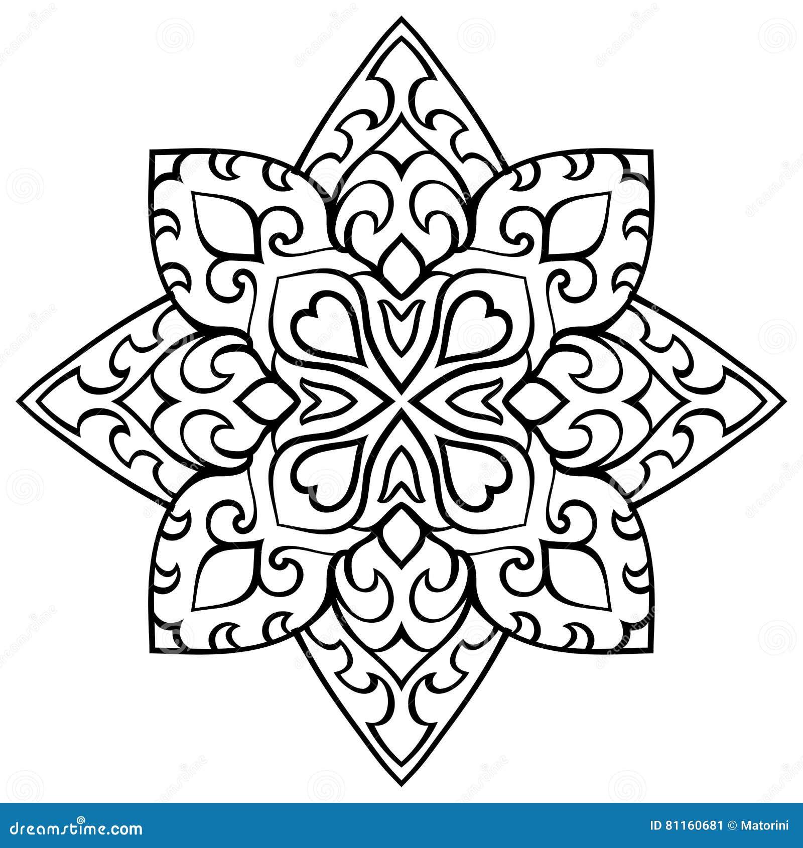 Ornament Of Simple Mandala. Vector Illustration ...   1300 x 1390 jpeg 182kB