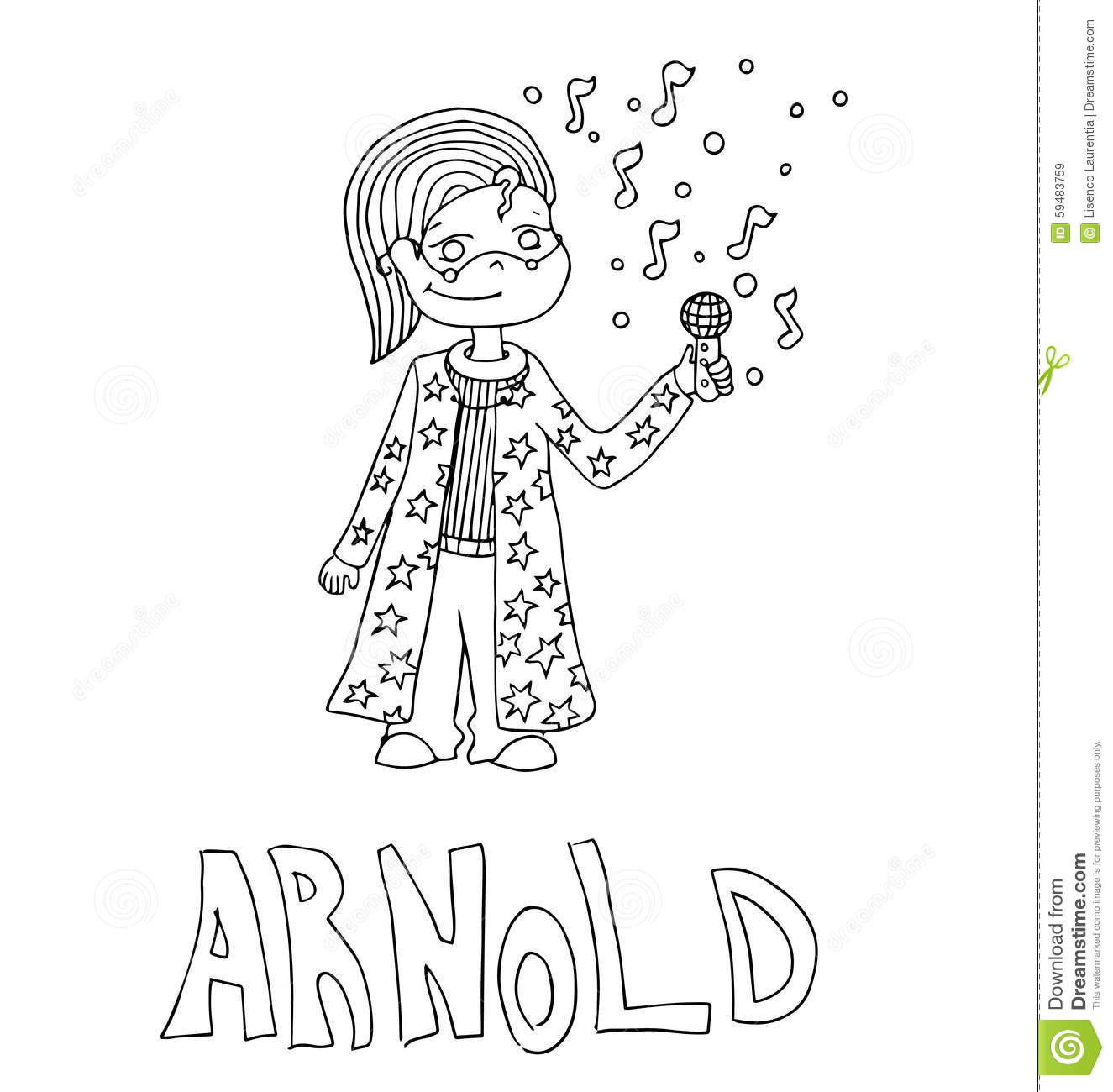 The Simple Outline Drawing For Coloring Of Children Meaning Of The